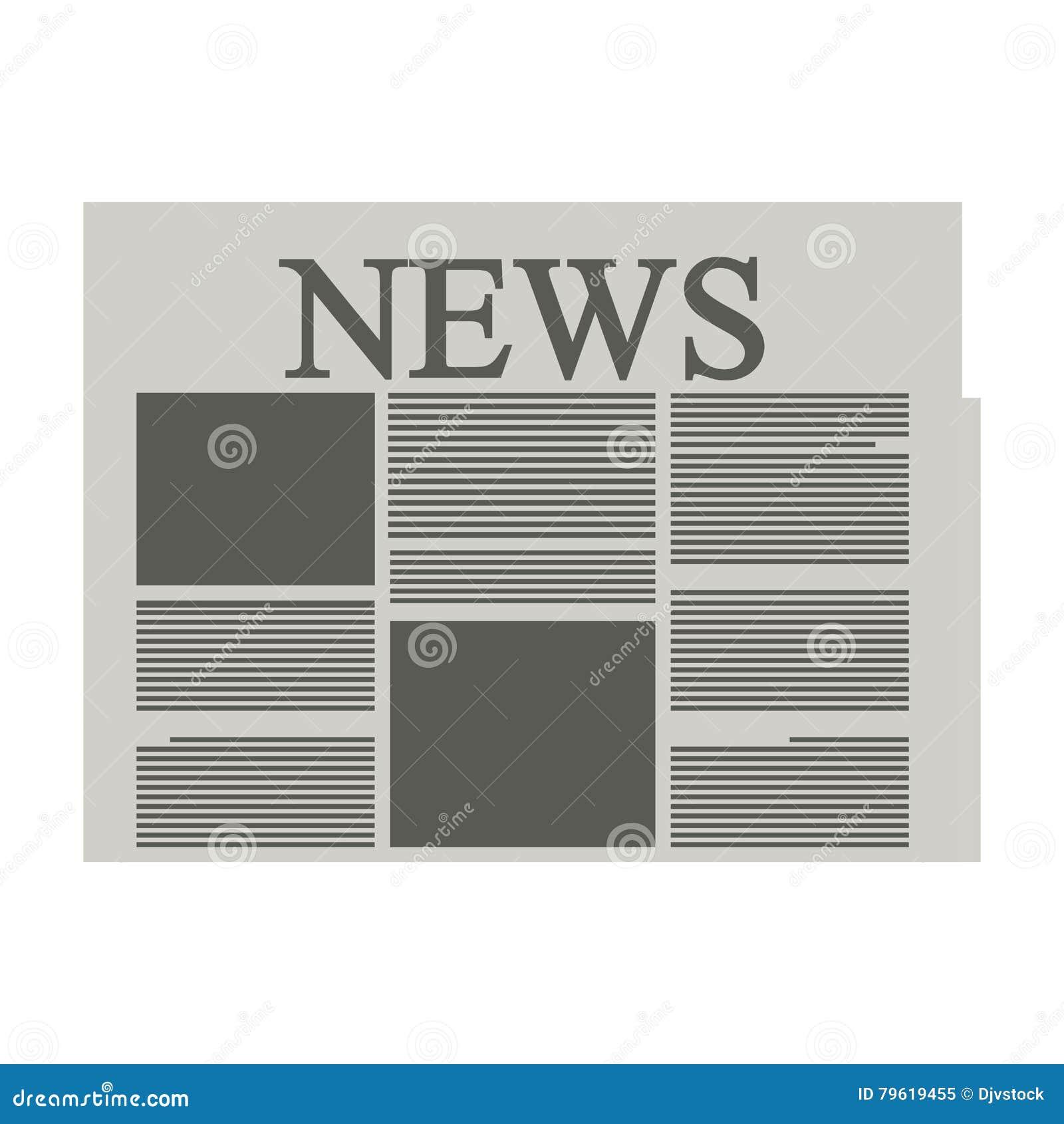 Ícone isolado da notícia informação de papel