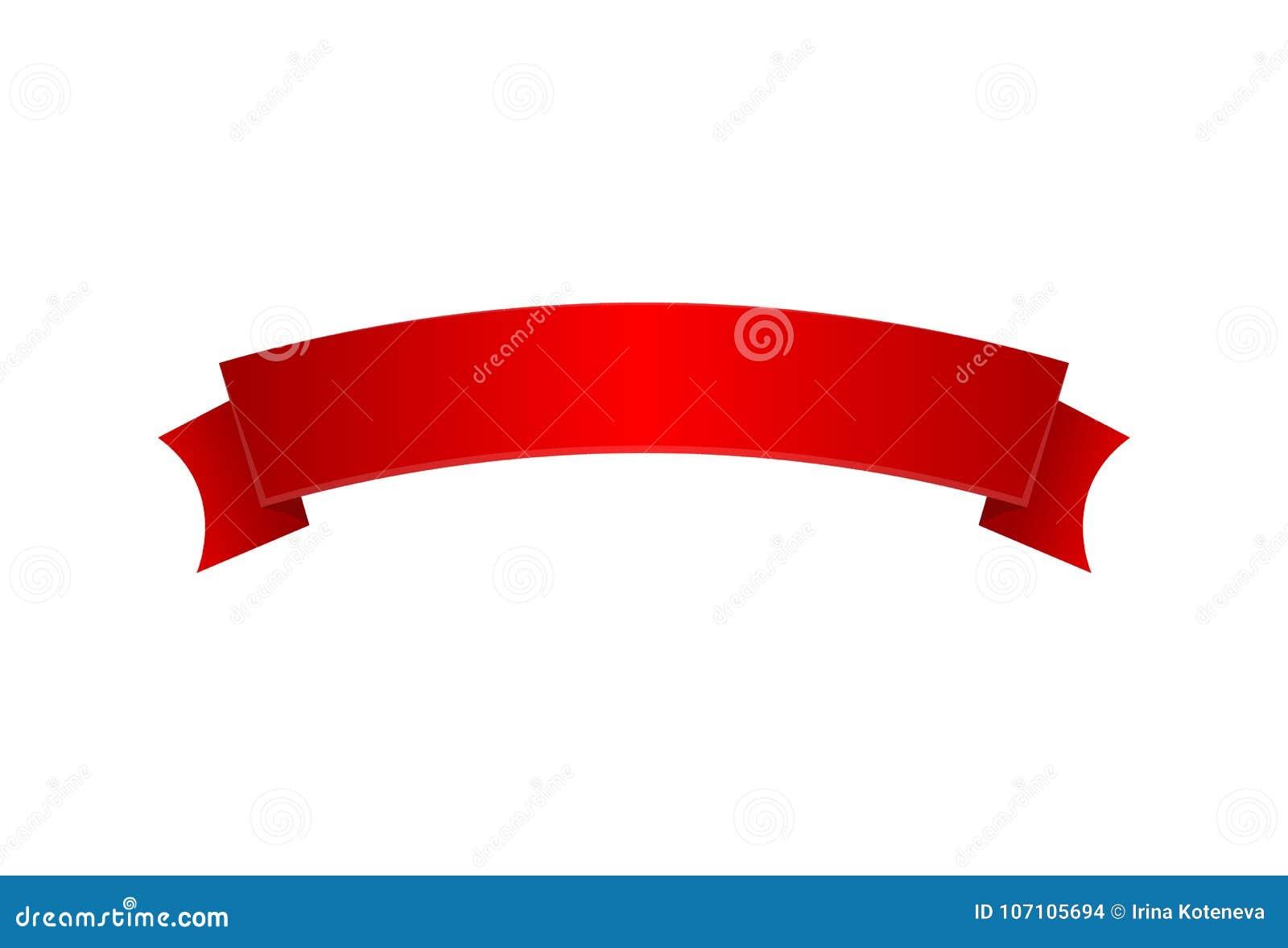Ícone isolado do cetim fita elegante vermelha