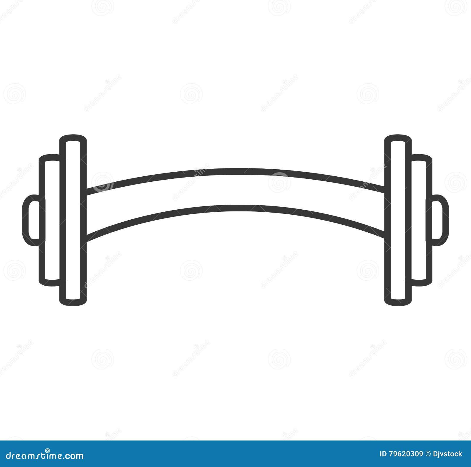 Ícone isolado gym do equipamento do peso