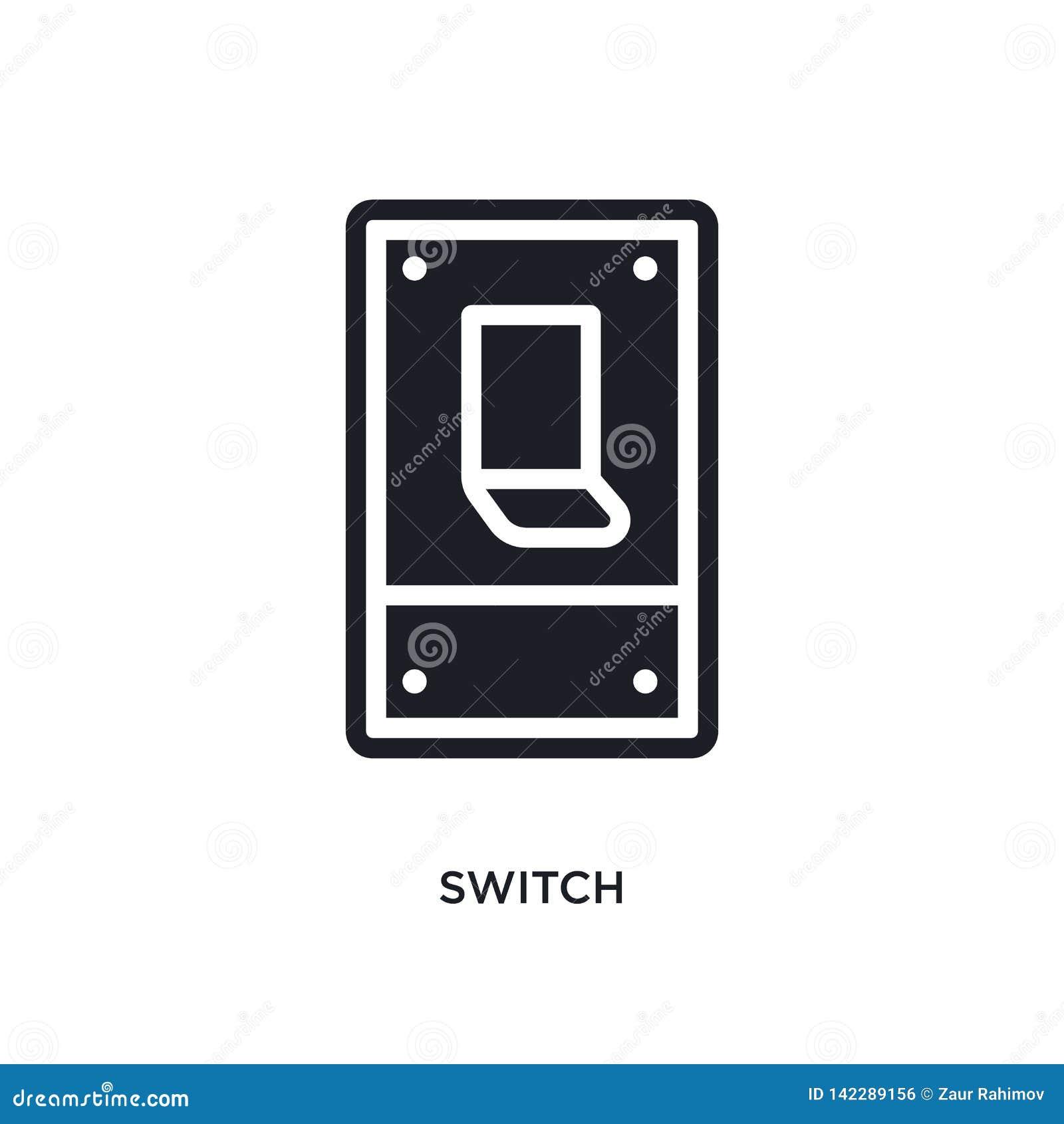 ícone isolado interruptor ilustração simples do elemento dos ícones electrian do conceito das conexões símbolo editável do sinal