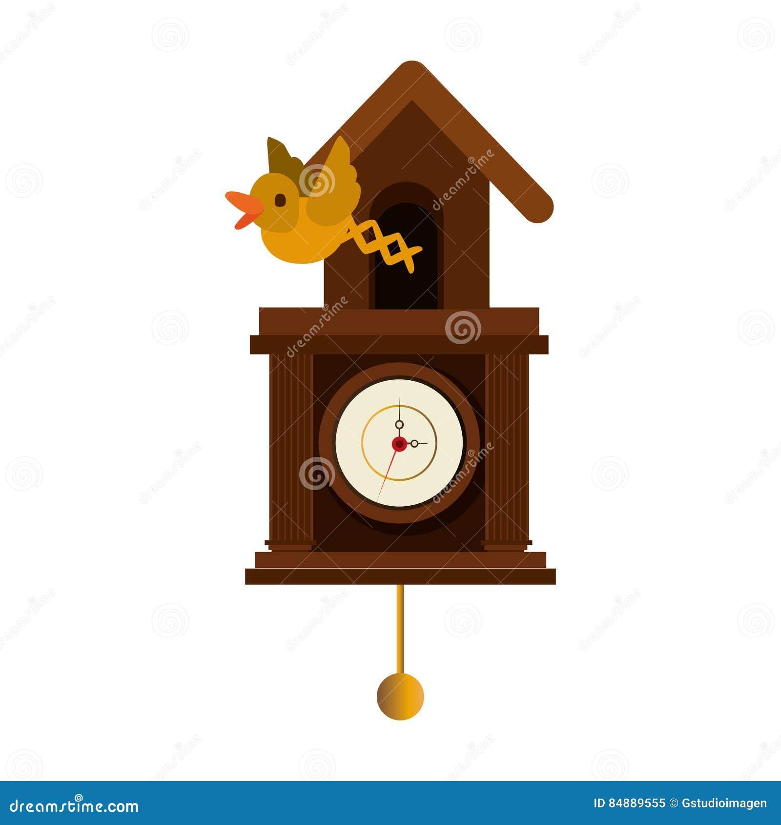 eb894eac73c ícone Isolado Tempo Do Relógio Do Cuco Ilustração Stock - Ilustração ...