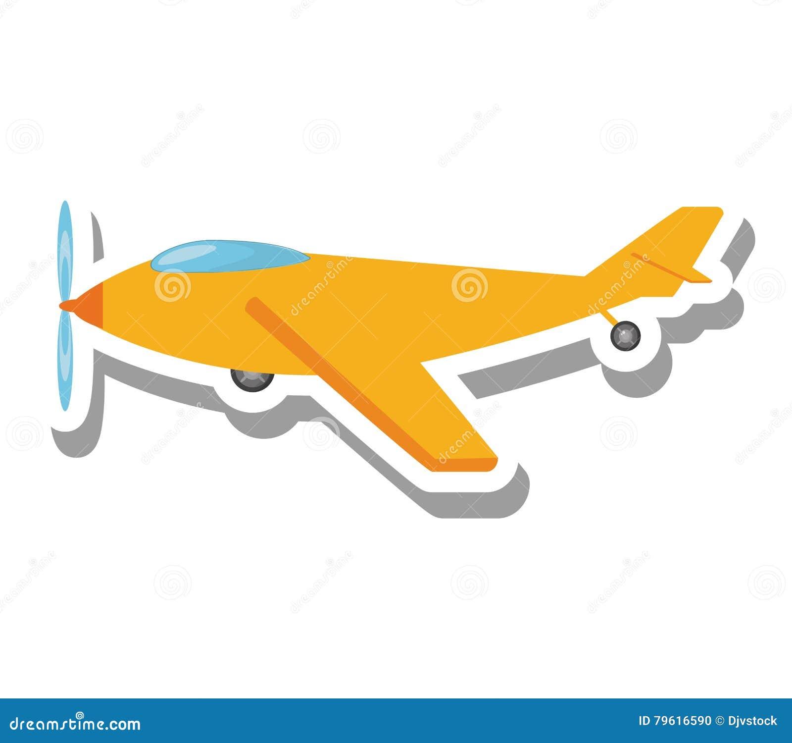 Ícone isolado voo do veículo do avião