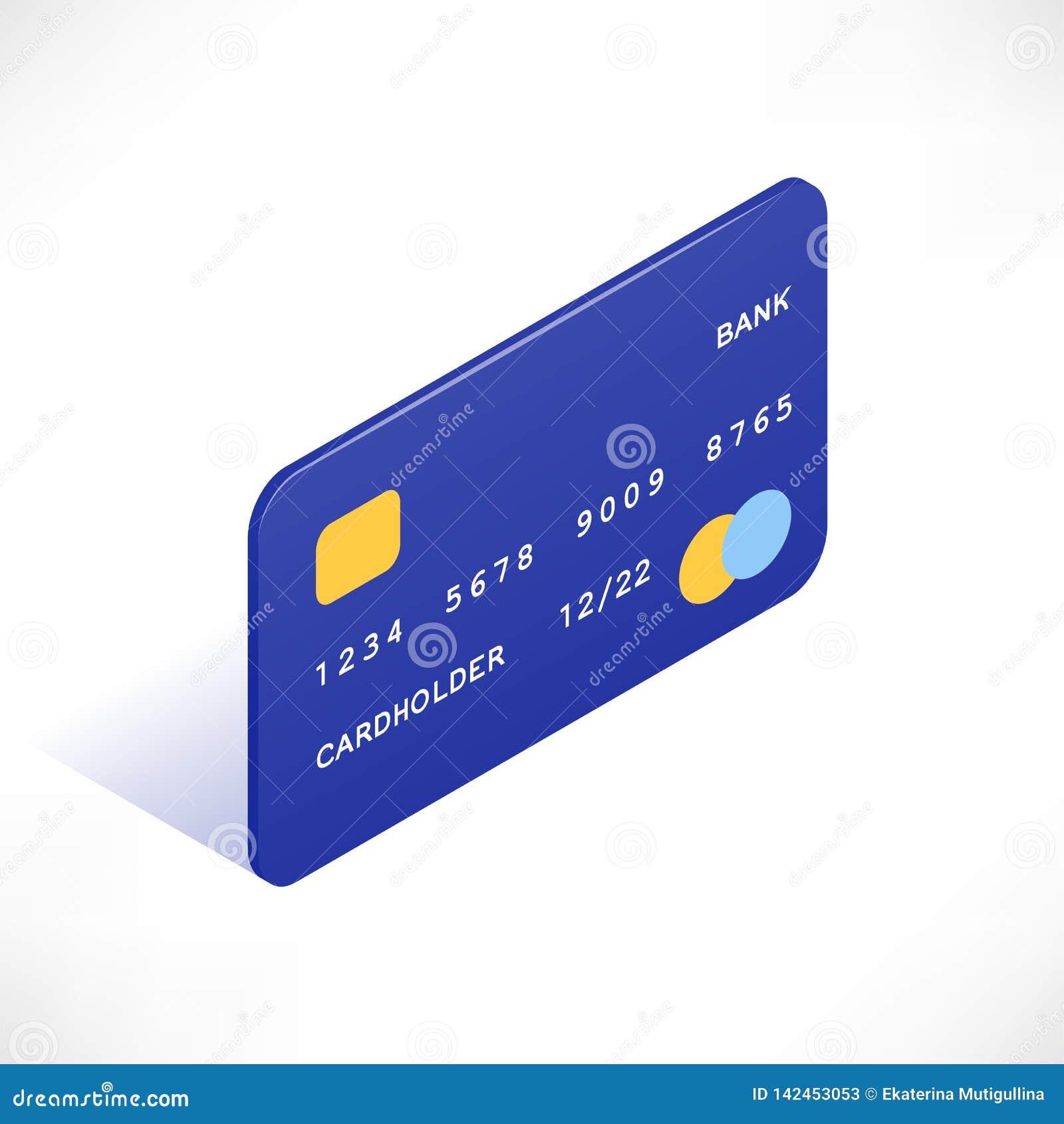 Ícone isométrico do cartão de crédito