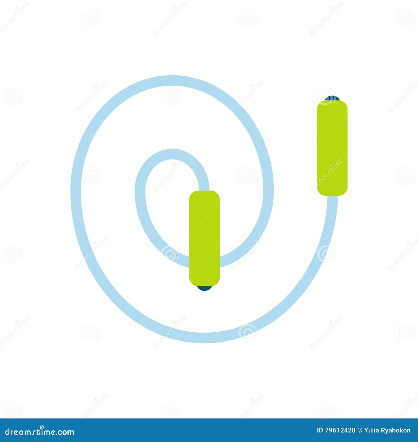 Ícone liso da corda de salto