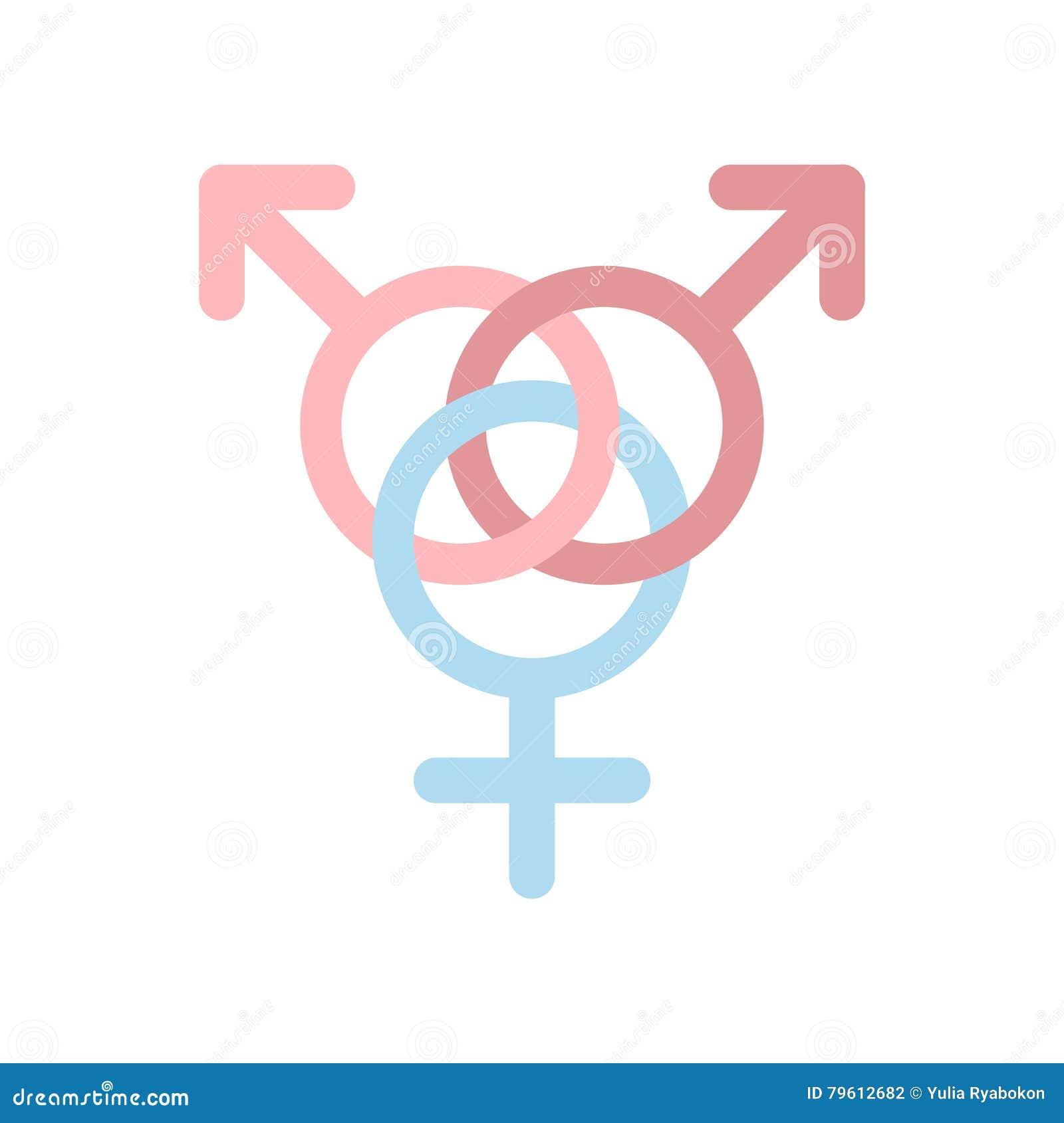 Ícone liso da família homossexual