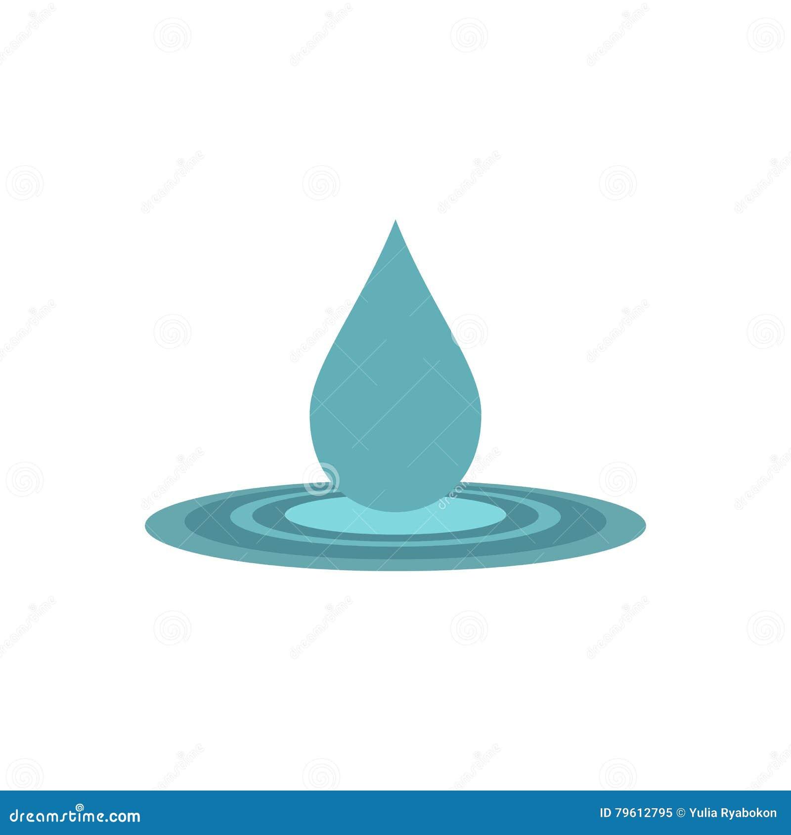 Ícone liso da gota da água