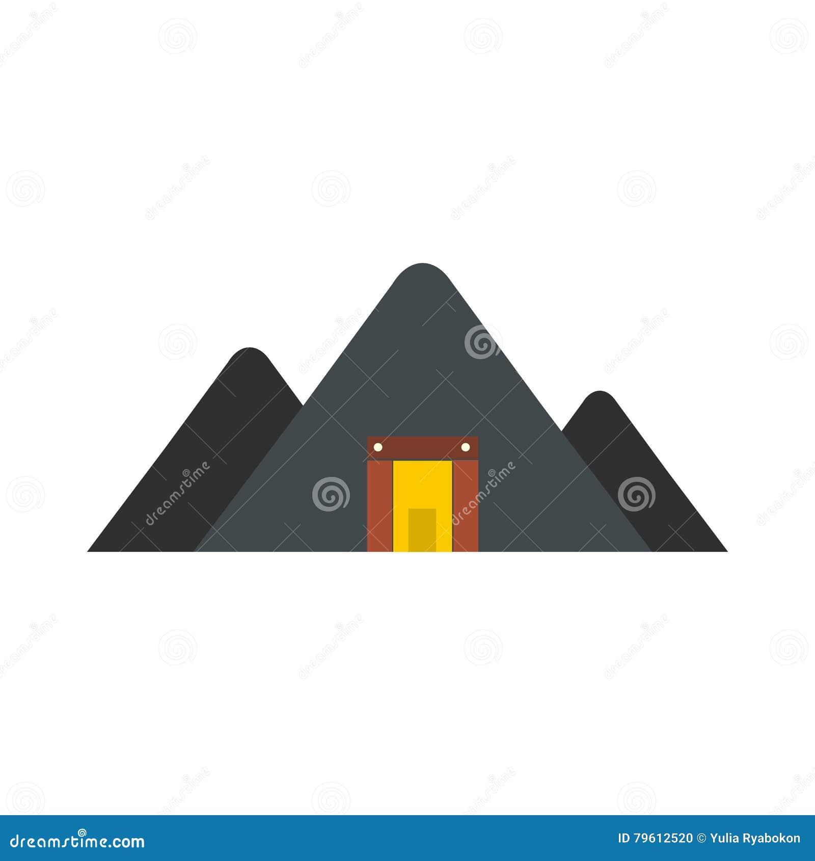Ícone liso da mina da montanha