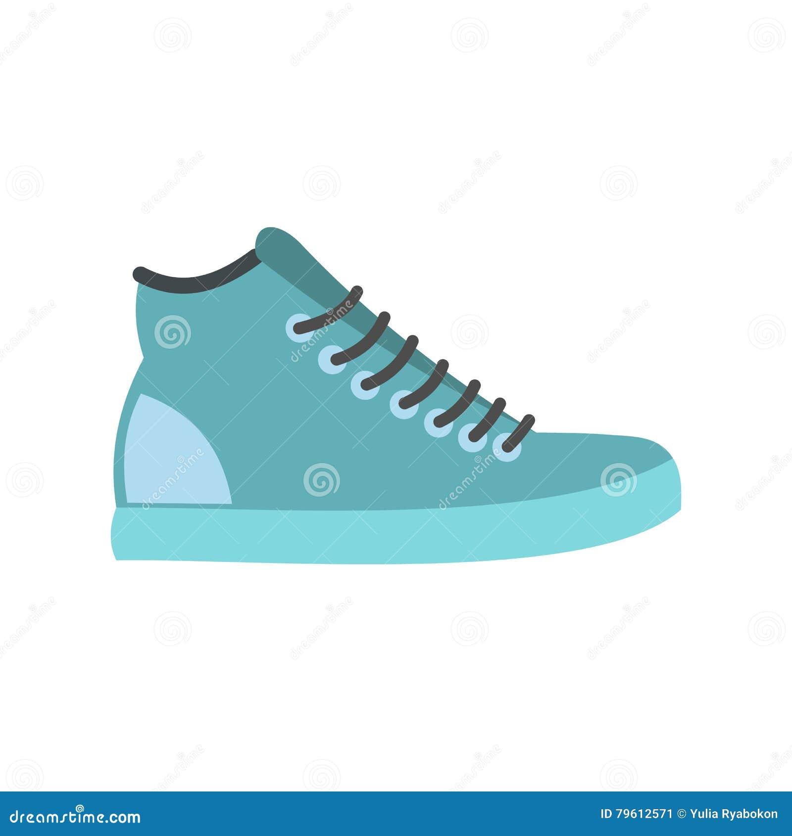 Ícone liso das sapatilhas azuis