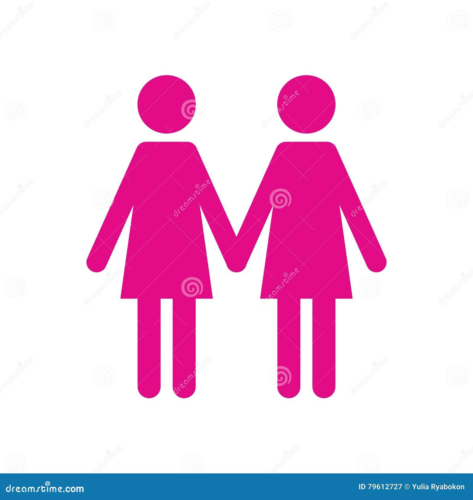 Ícone liso de duas mulheres