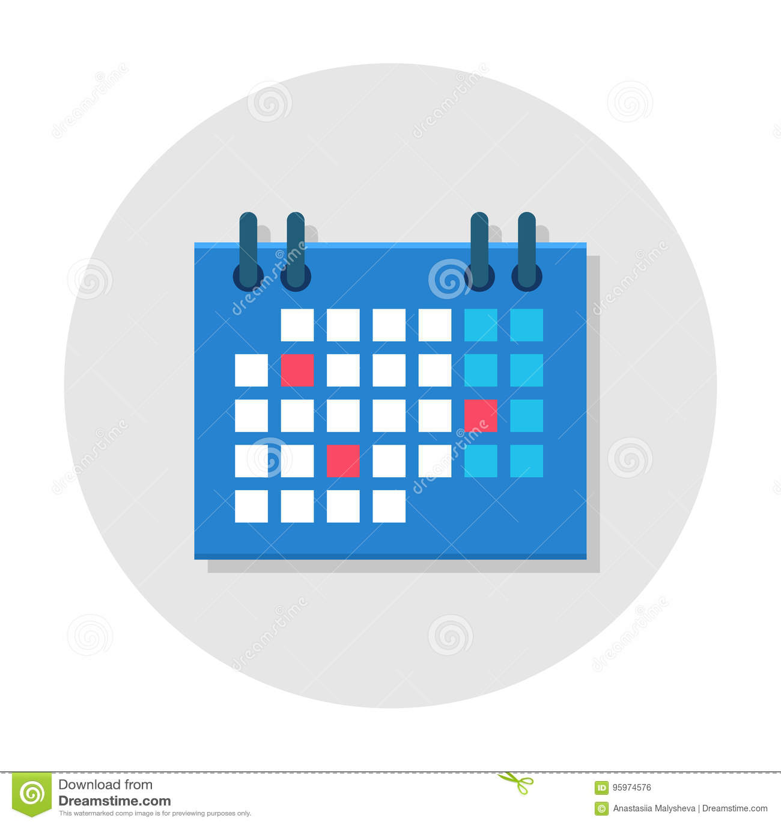 Ícone liso do calendário