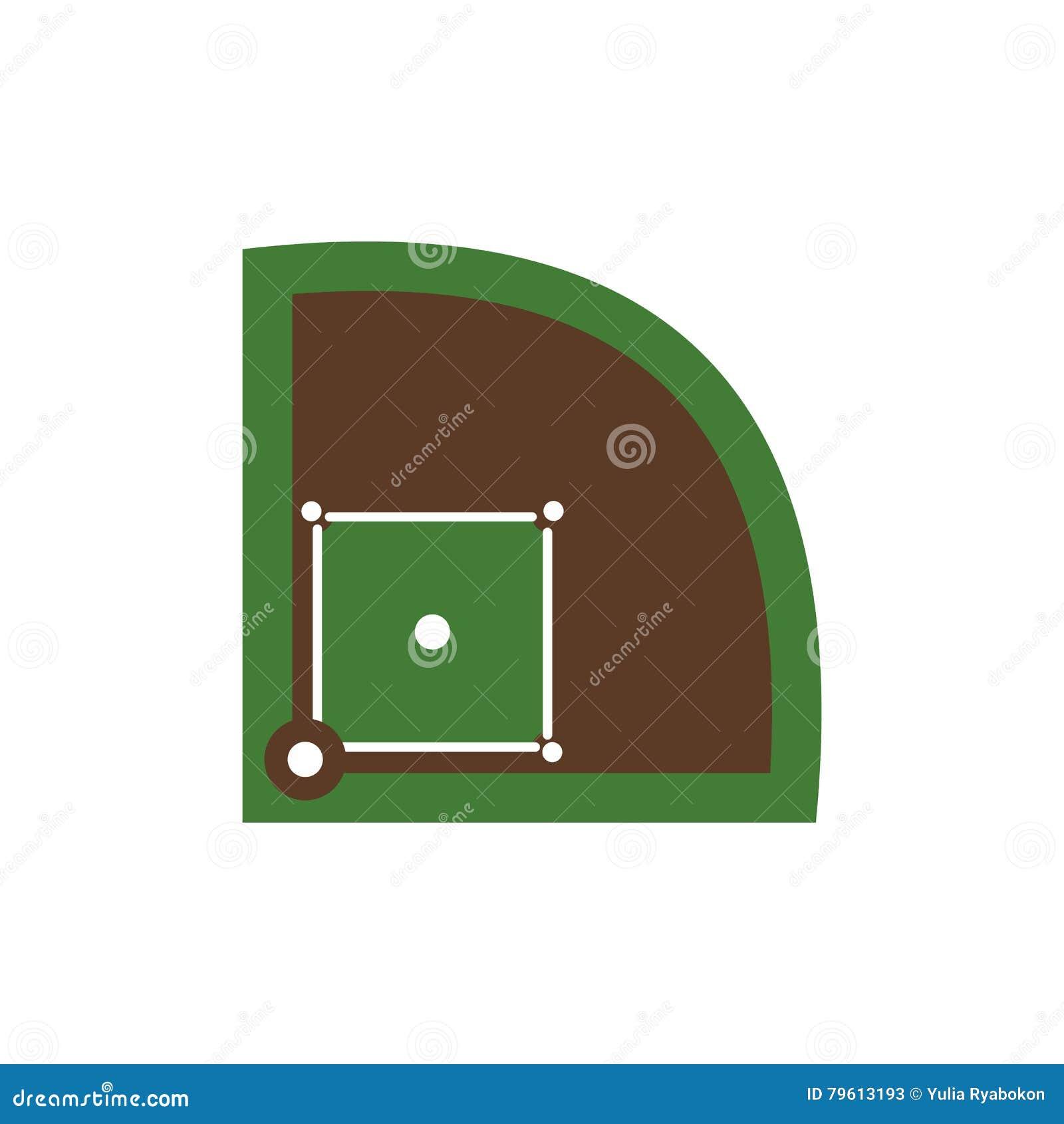 Ícone liso do campo de basebol