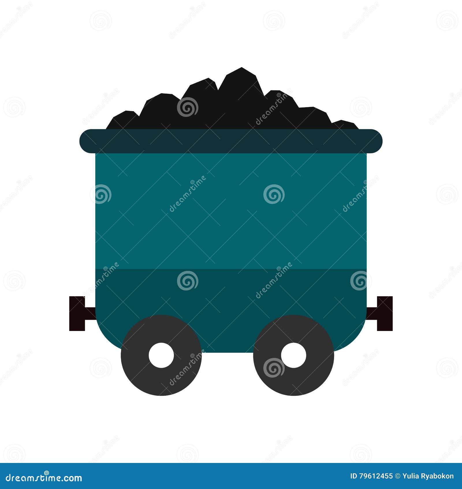 Ícone liso do trole de carvão
