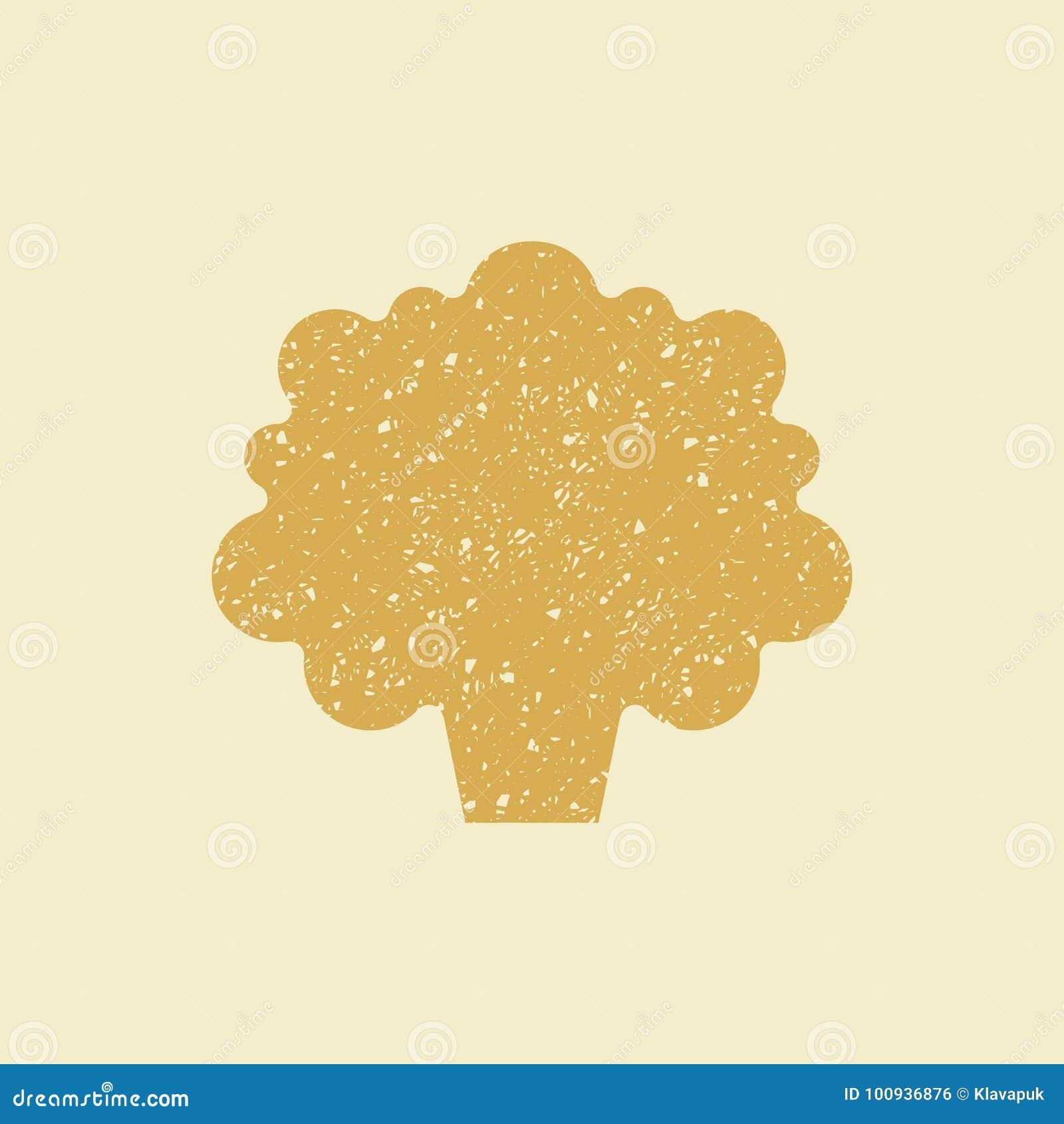 Ícone liso estilizado de uma couve-flor,