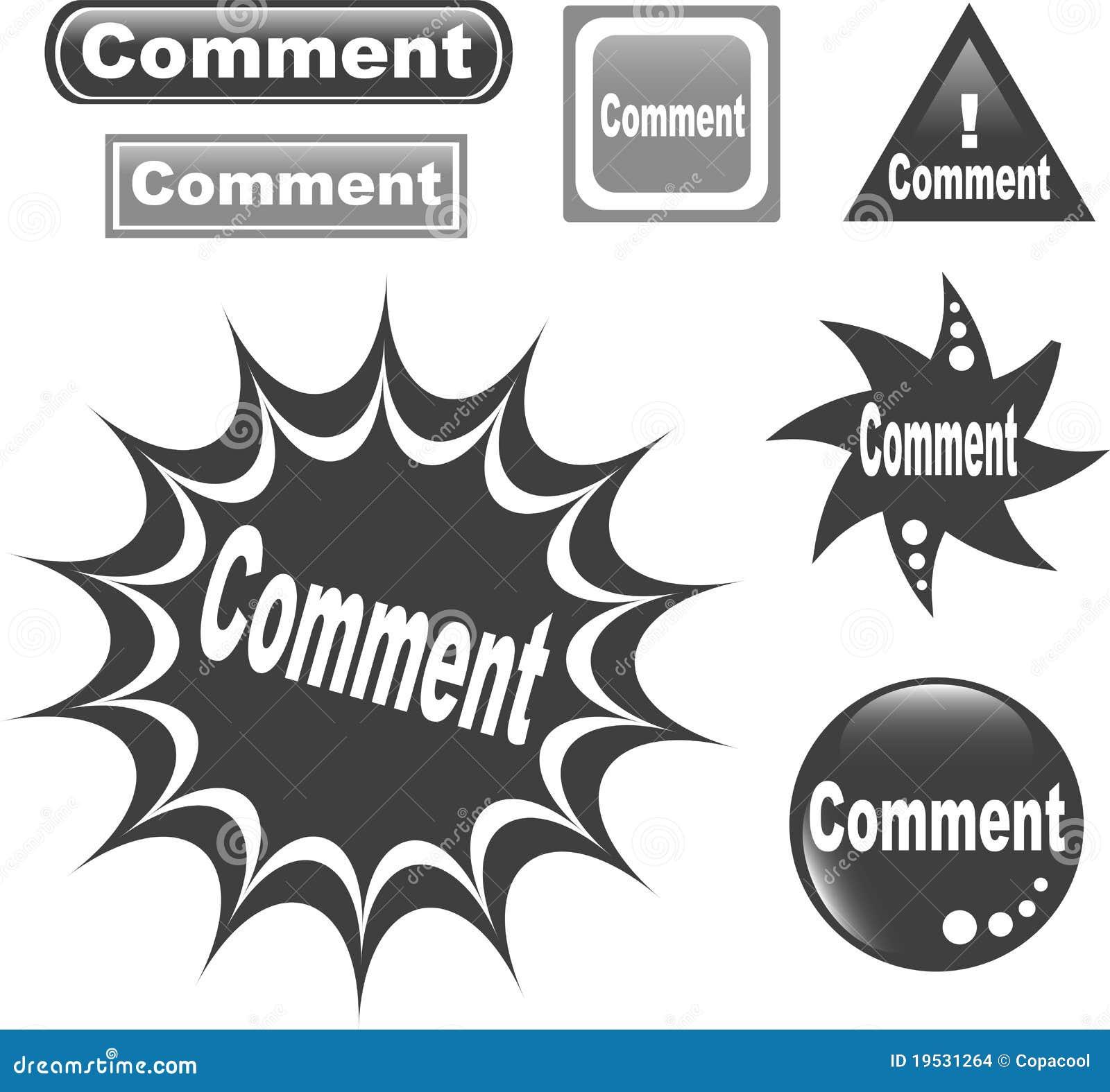 Ícone lustroso do Web da tecla do comentário