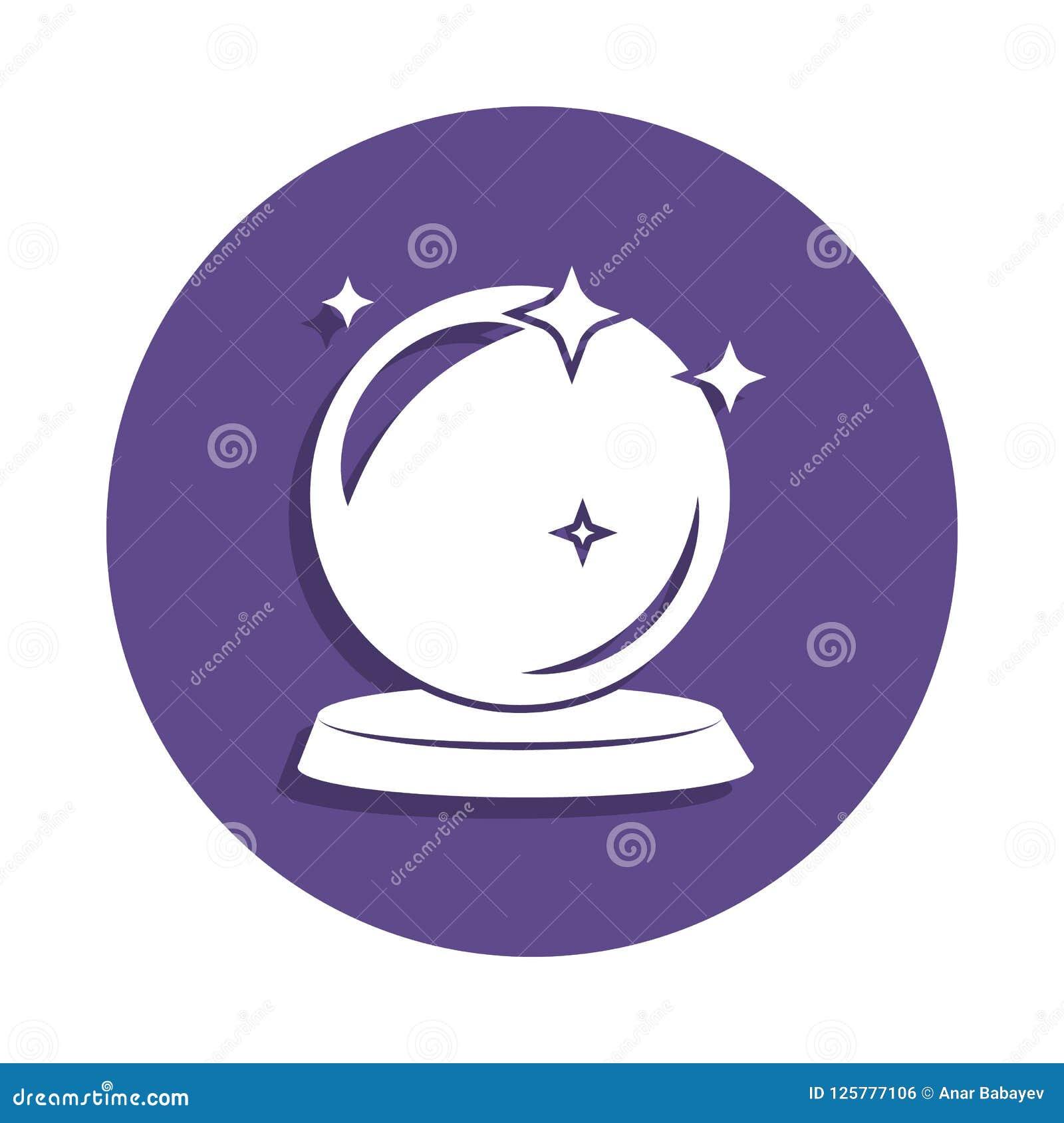ícone mágico da bola no estilo do crachá Um do ícone mágico da coleção pode ser usado para UI, UX