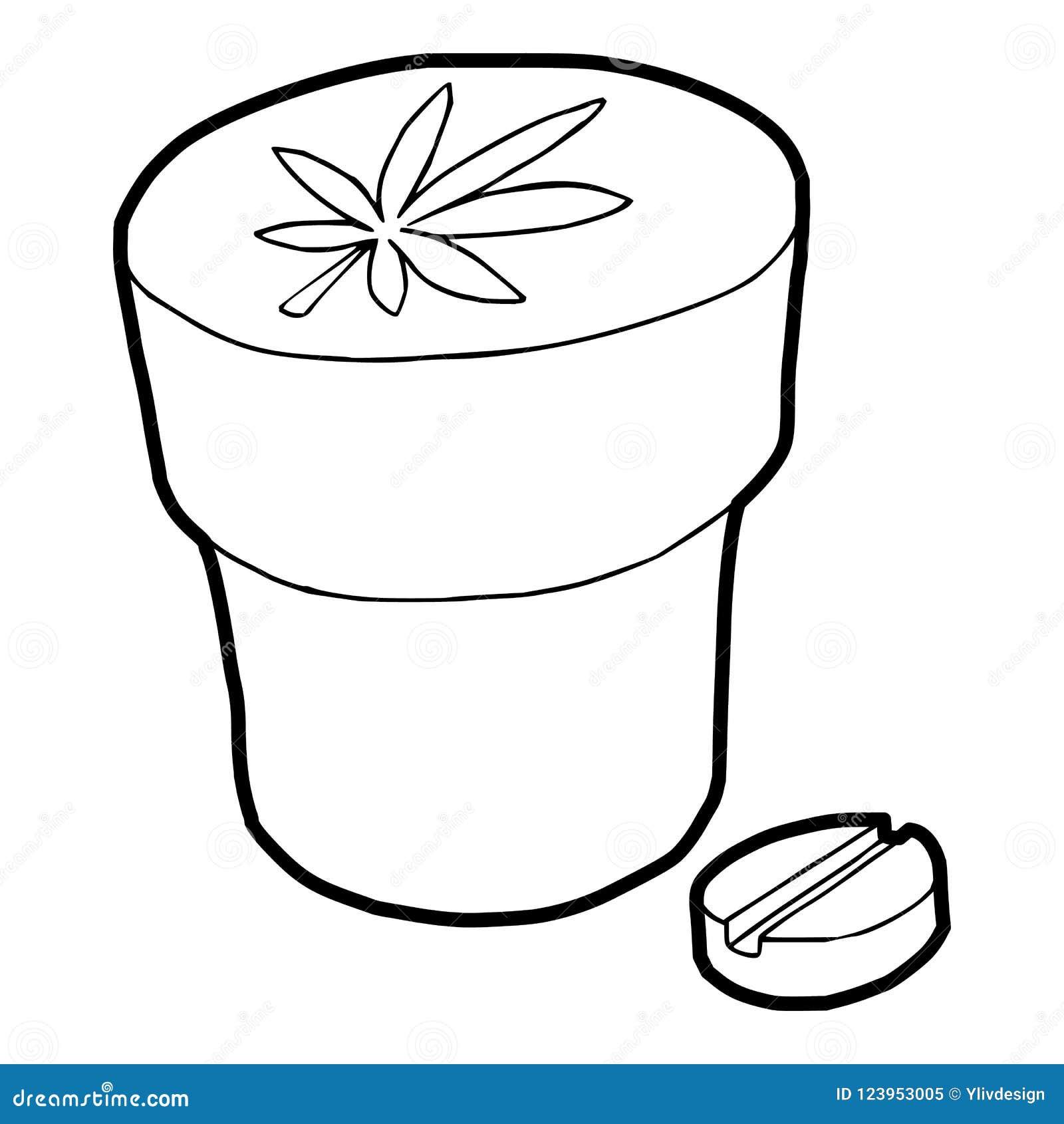 Ícone médico da garrafa e da tabuleta da marijuana
