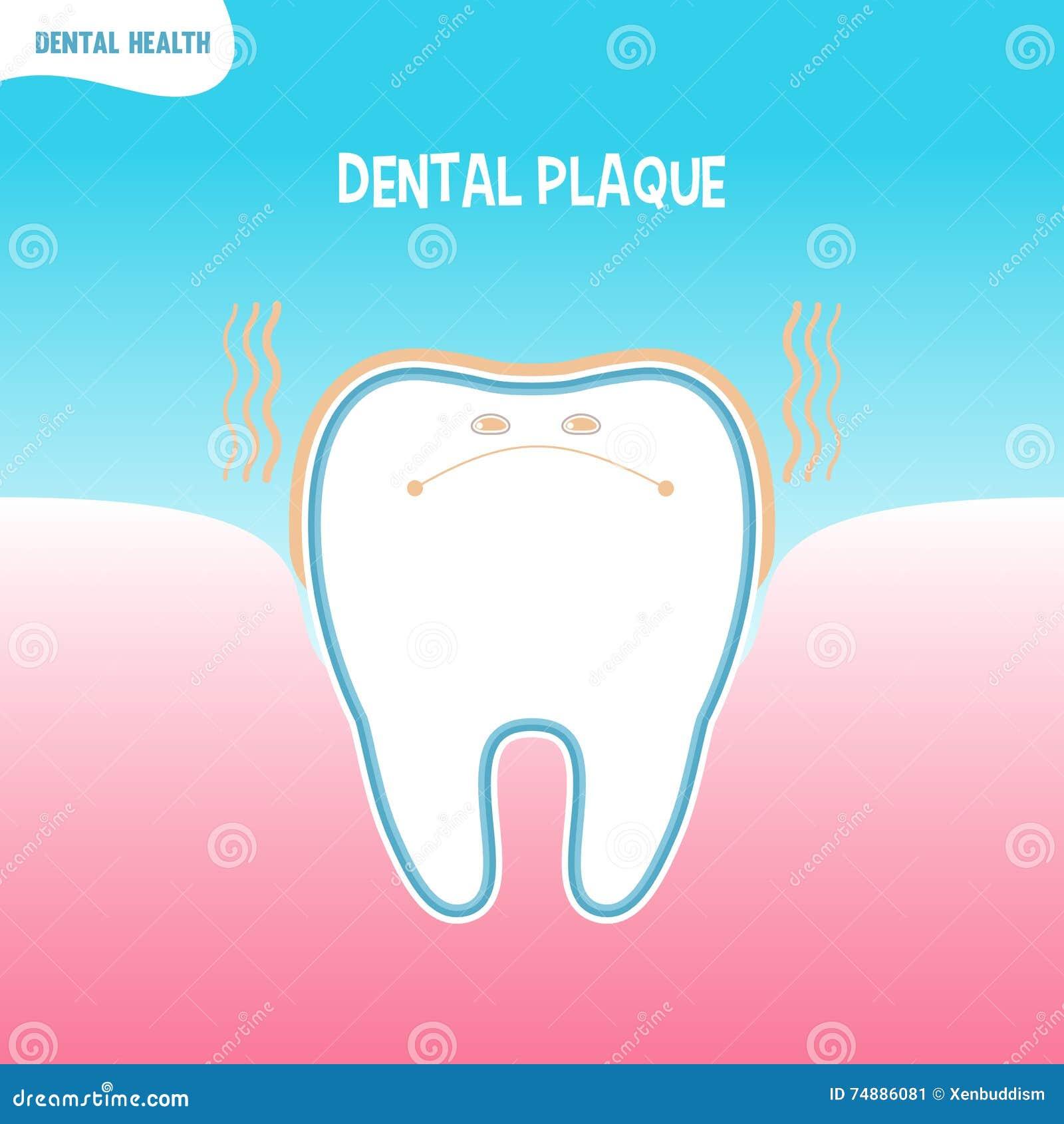Ícone mau do dente dos desenhos animados com chapa dental