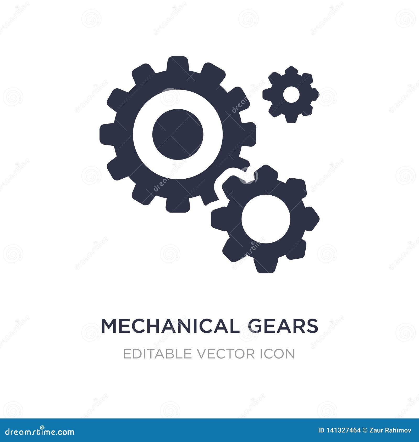 ícone mecânico das engrenagens no fundo branco Ilustração simples do elemento do outro conceito