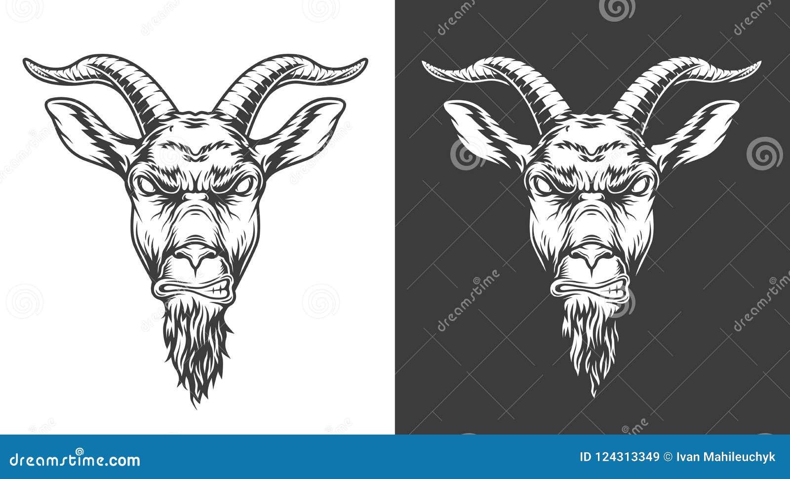 Ícone monocromático da cabra