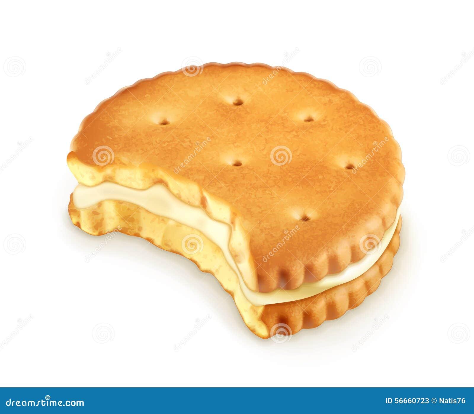 Ícone mordido da cookie