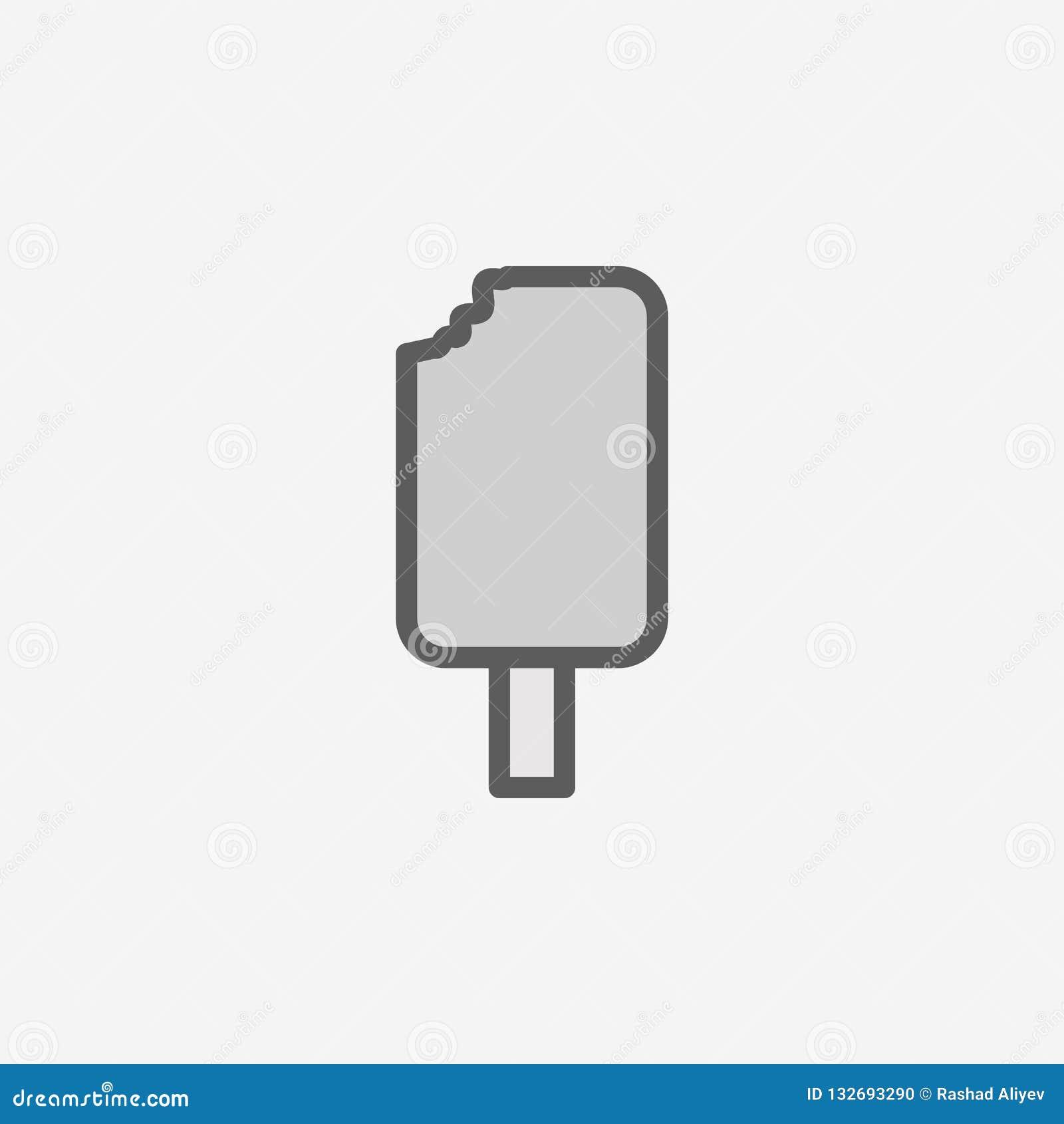 ícone mordido do esboço do campo do gelado Elemento do ícone simples de 2 cores Linha fina ícone para o projeto do Web site e o d