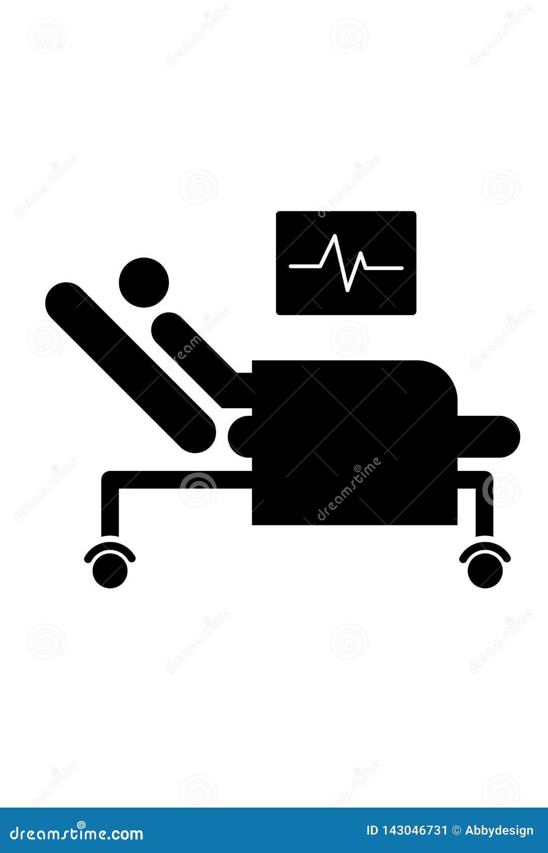 Ícone paciente da cama