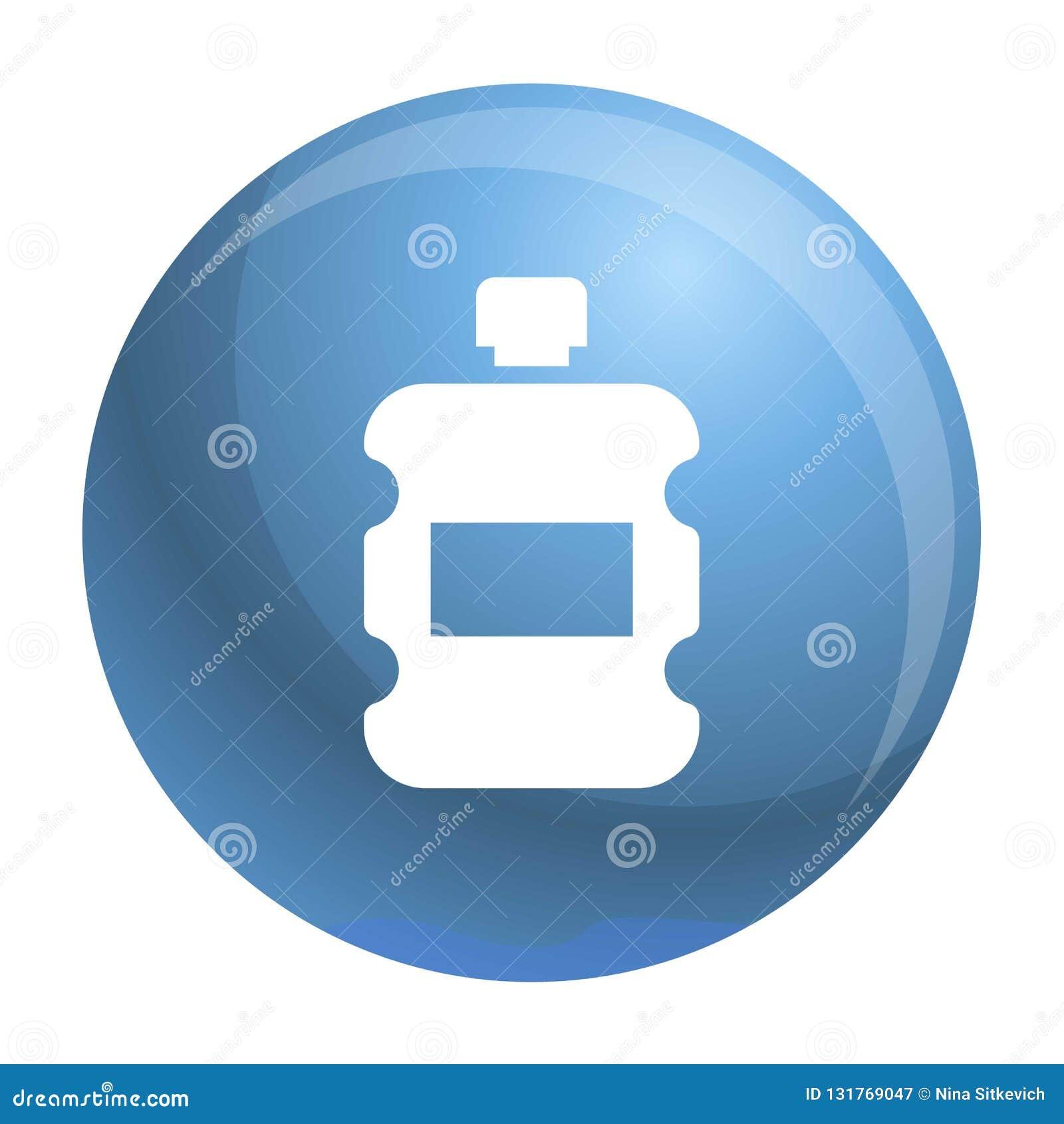 Ícone plástico da garrafa de água, estilo simples