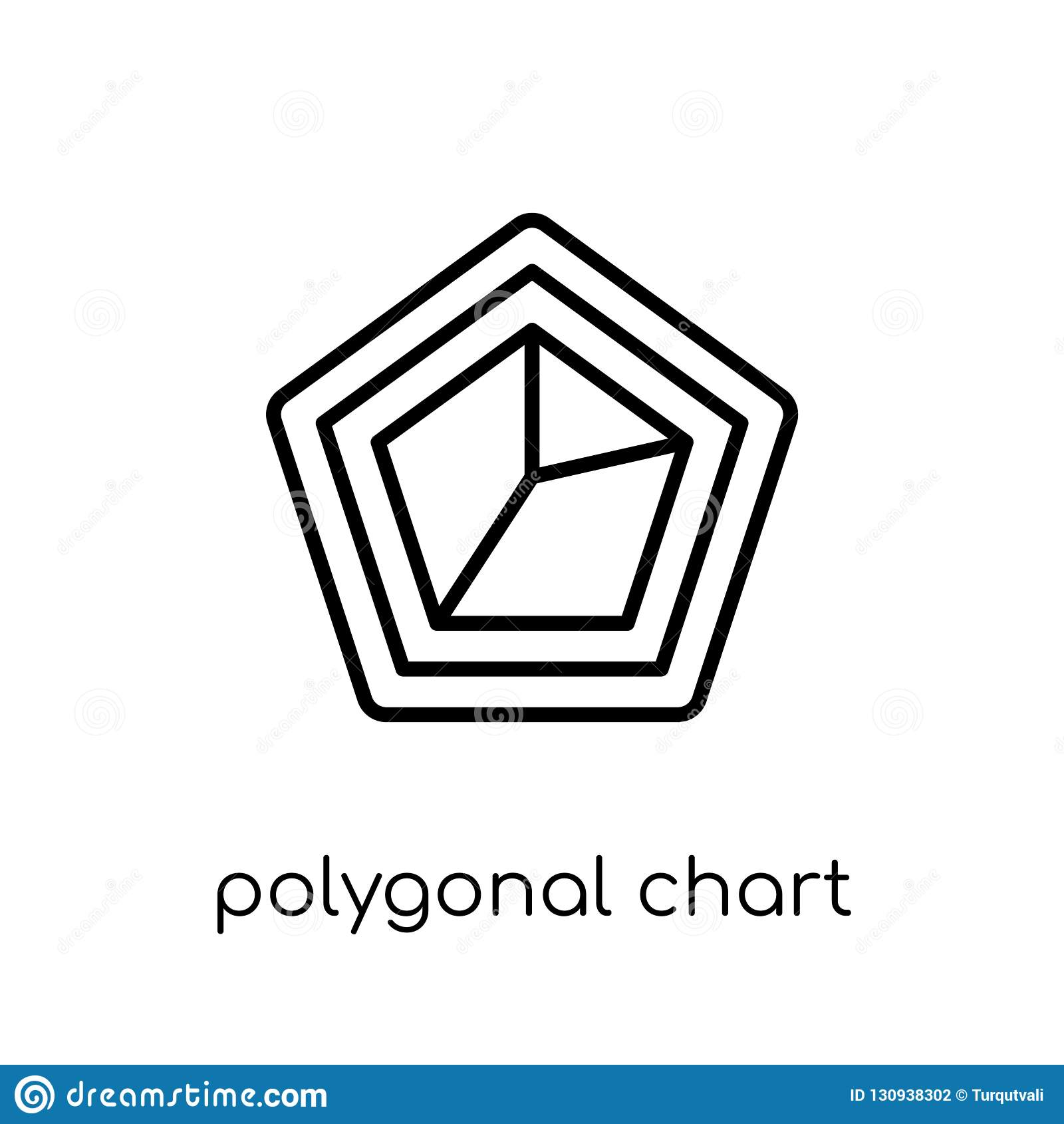 Ícone poligonal da carta Vetor linear liso moderno na moda poligonal