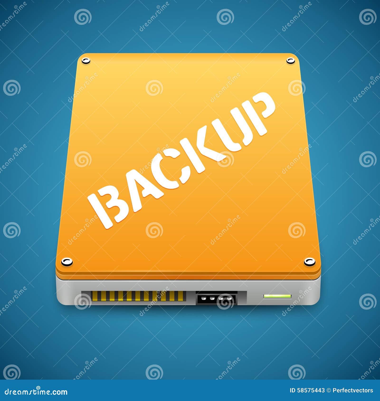 Ícone portátil da movimentação de disco dos trabalhos forçados do backup de dados