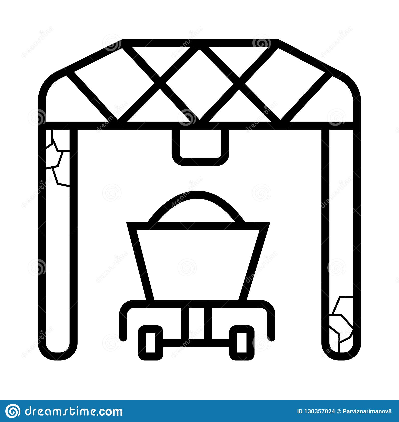 Ícone portuário do carregador