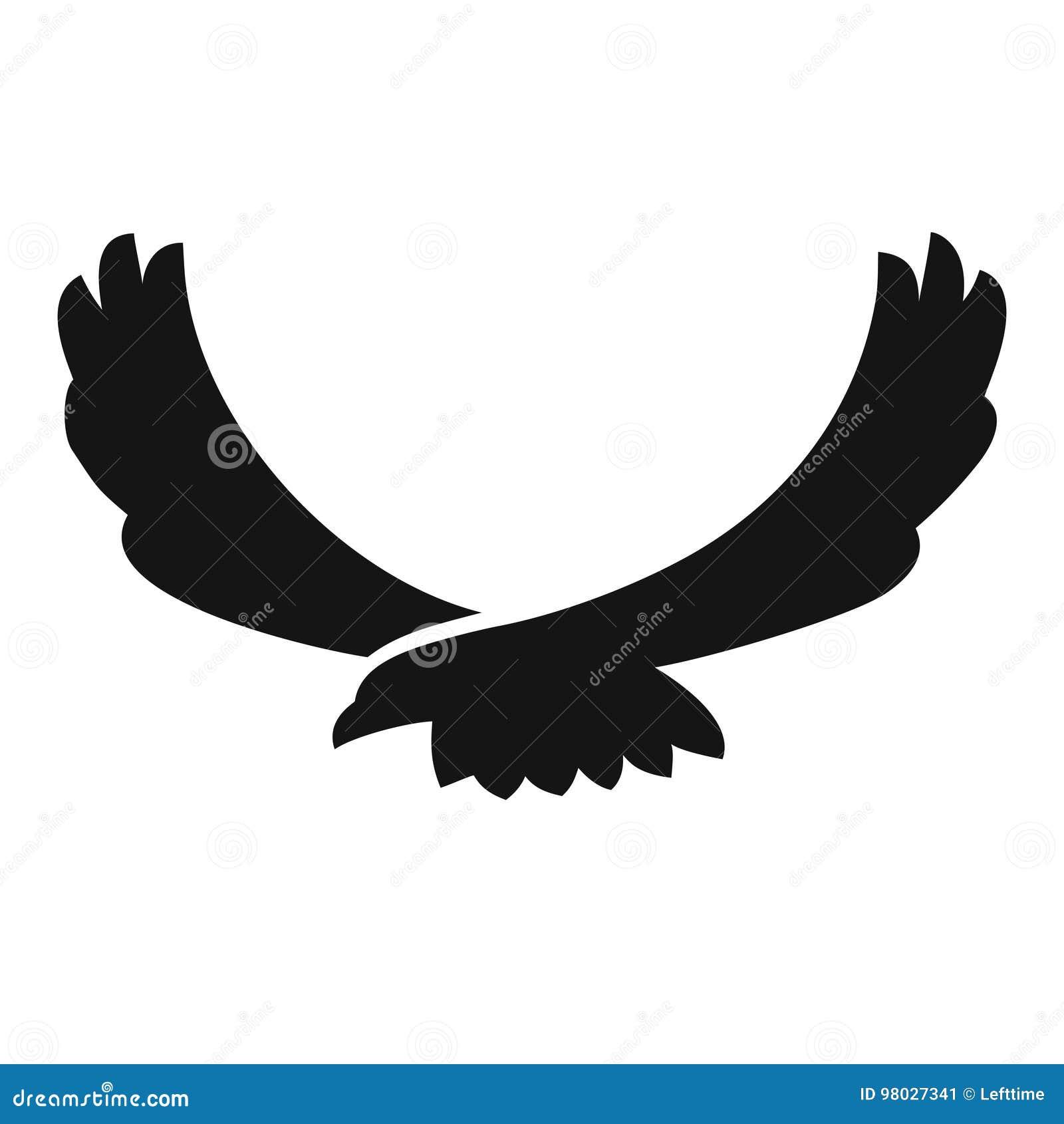 Ícone preto do pássaro