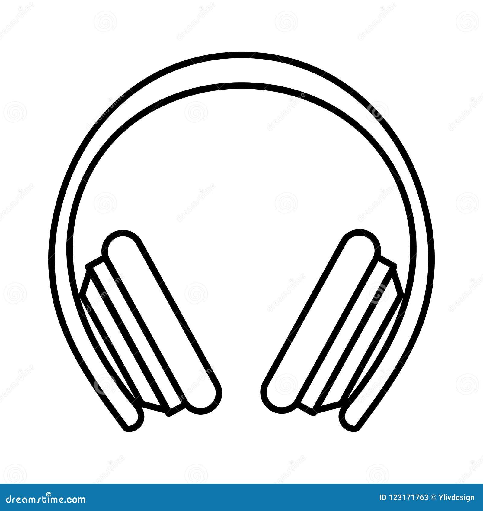 Icone Protetor Dos Fones De Ouvido Estilo Do Esboco Ilustracao