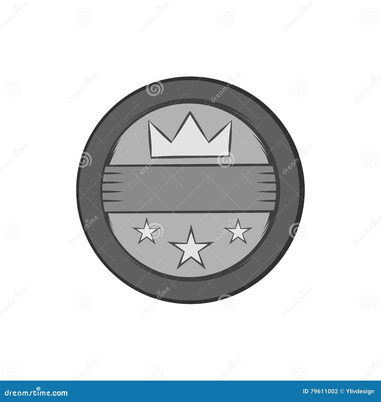Ícone redondo da etiqueta, estilo monocromático preto