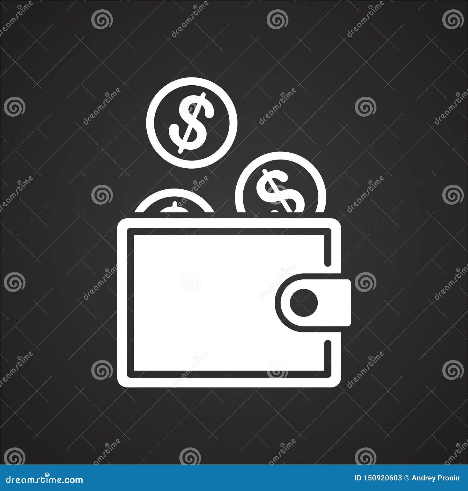 Ícone relativo à segurança do dinheiro no fundo para o gráfico e o design web Ilustra??o simples S?mbolo do conceito do Internet