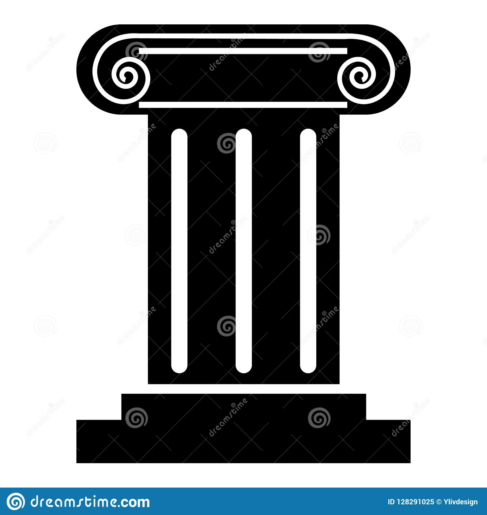 Ícone romano da coluna, estilo simples