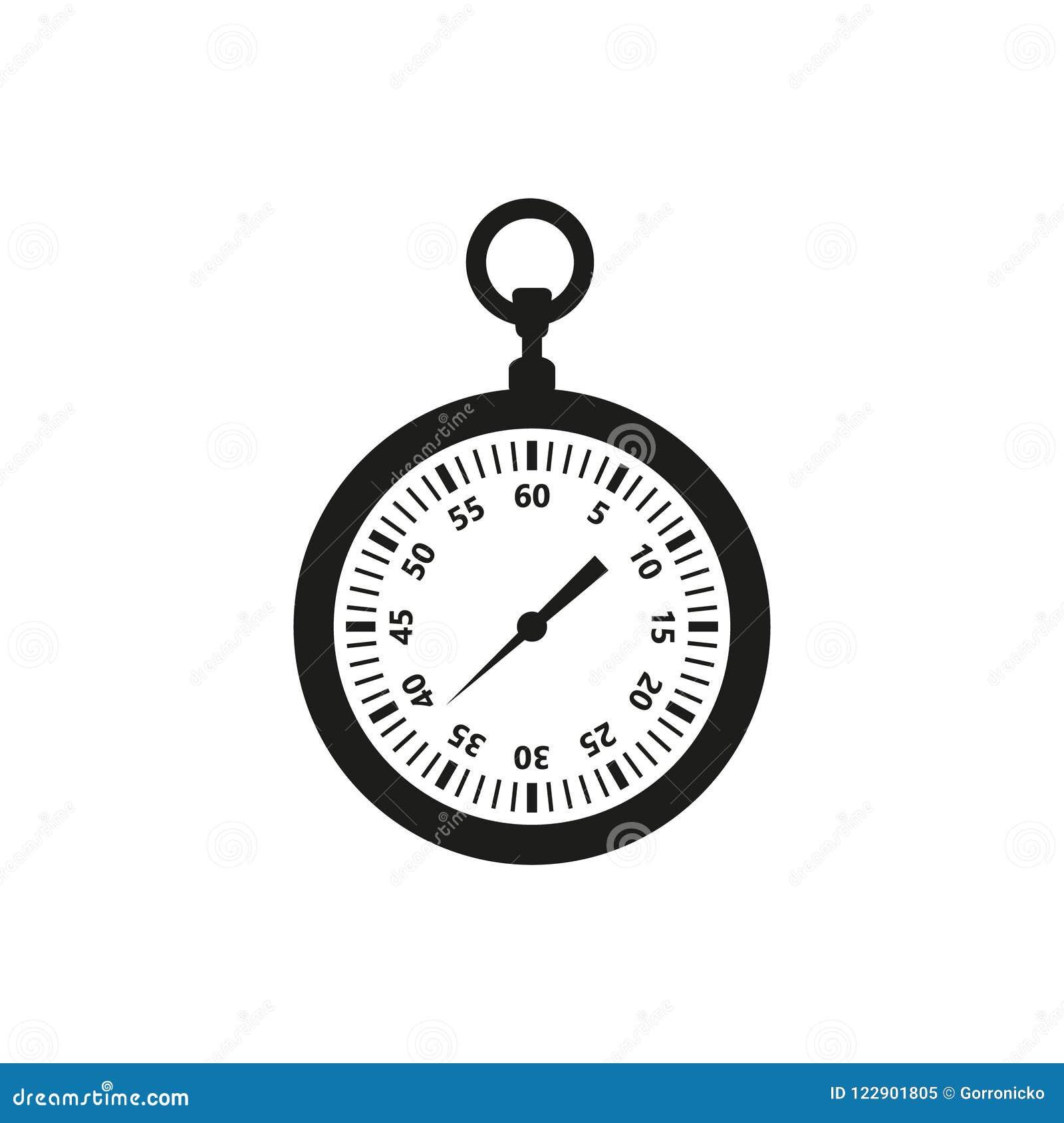 e1ab19b320b Ícone Simples Do Vetor Do Esboço De Um Cronômetro Ilustração do ...
