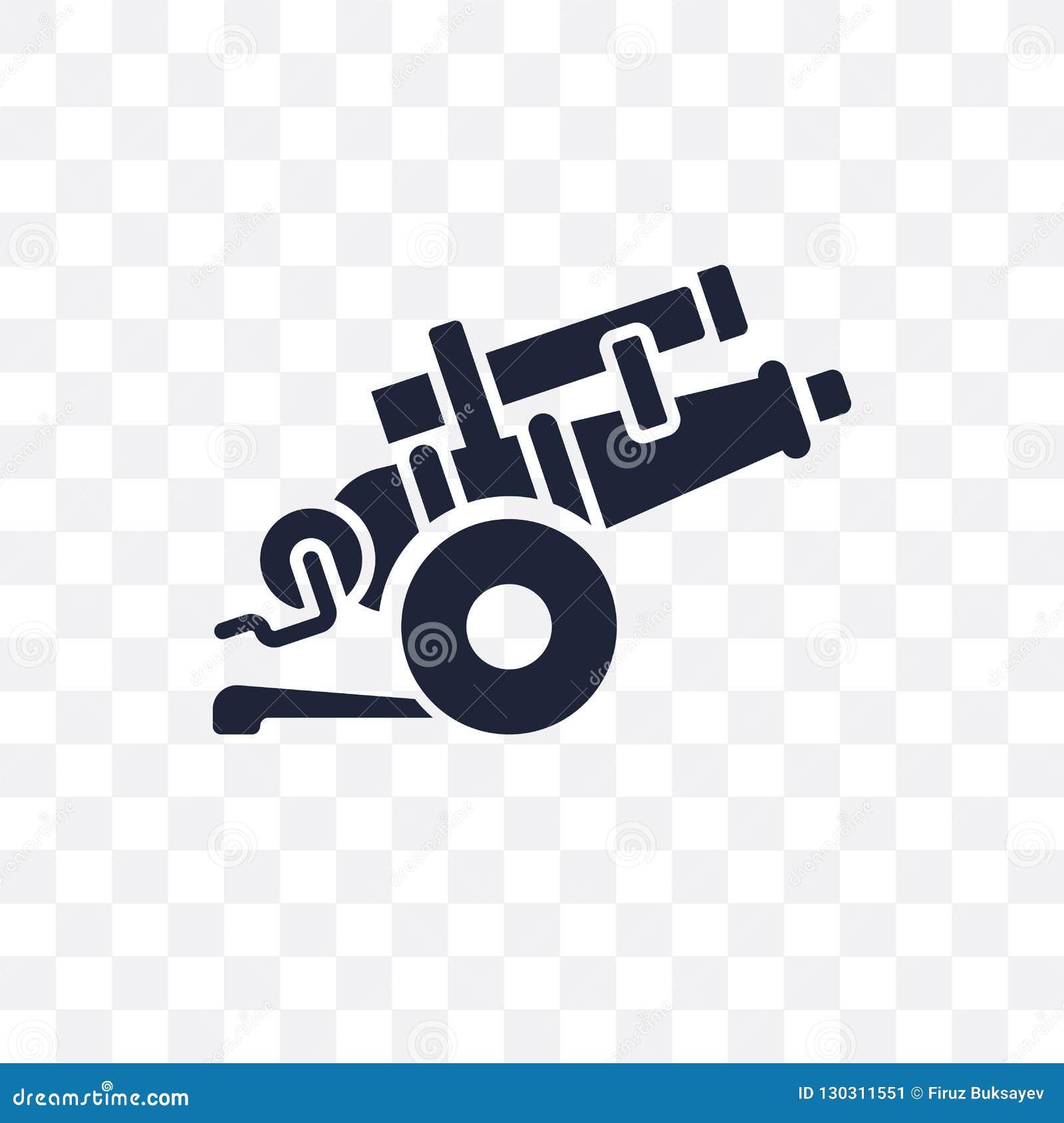 ícone transparente da artilharia projeto do símbolo da artilharia do exército co