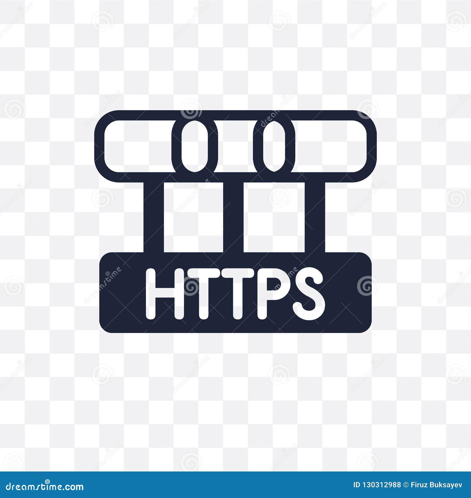 Ícone transparente de Https Projeto do símbolo de Https do securi do Internet