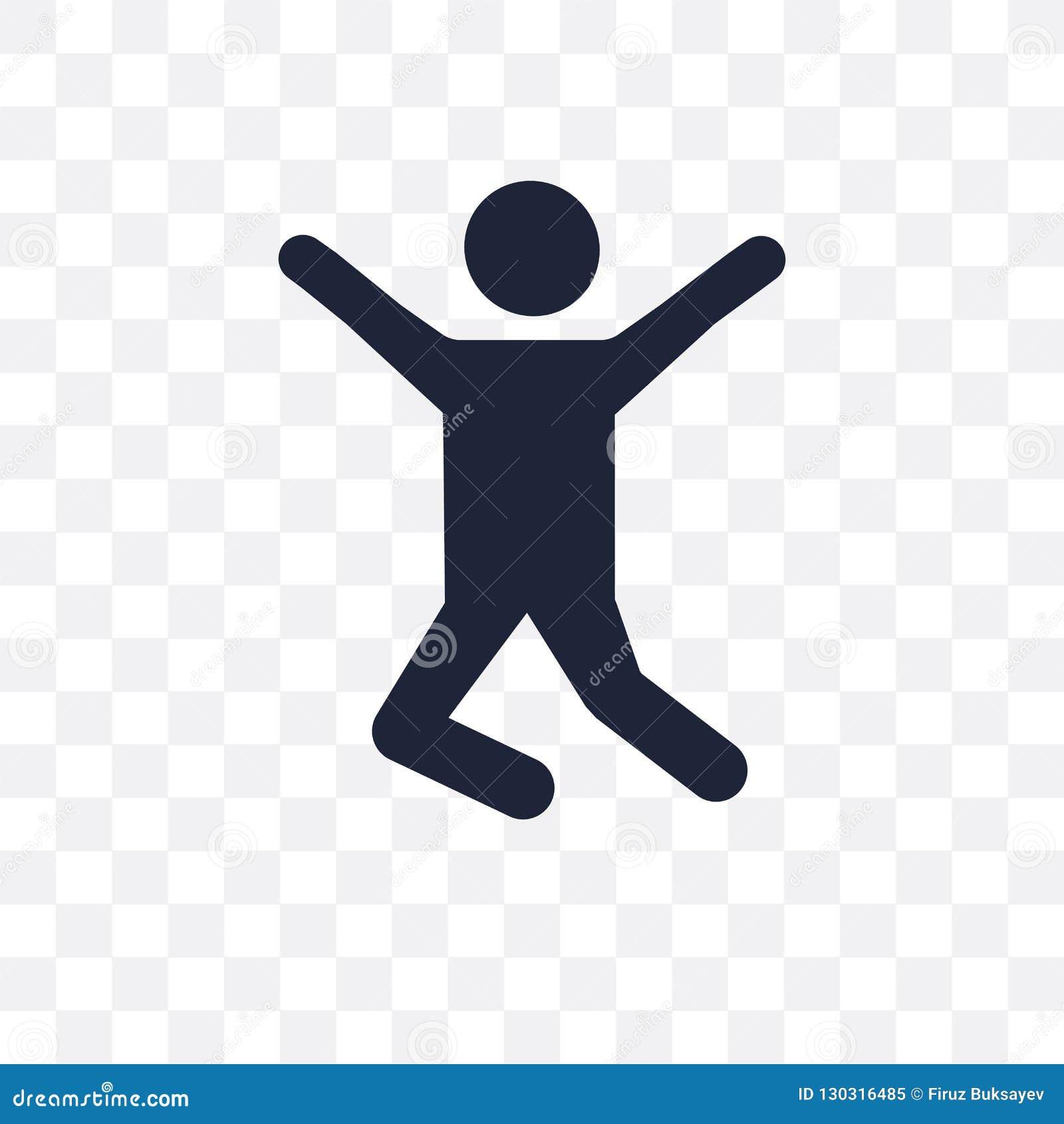 Ícone transparente de salto Projeto de salto do símbolo da atividade