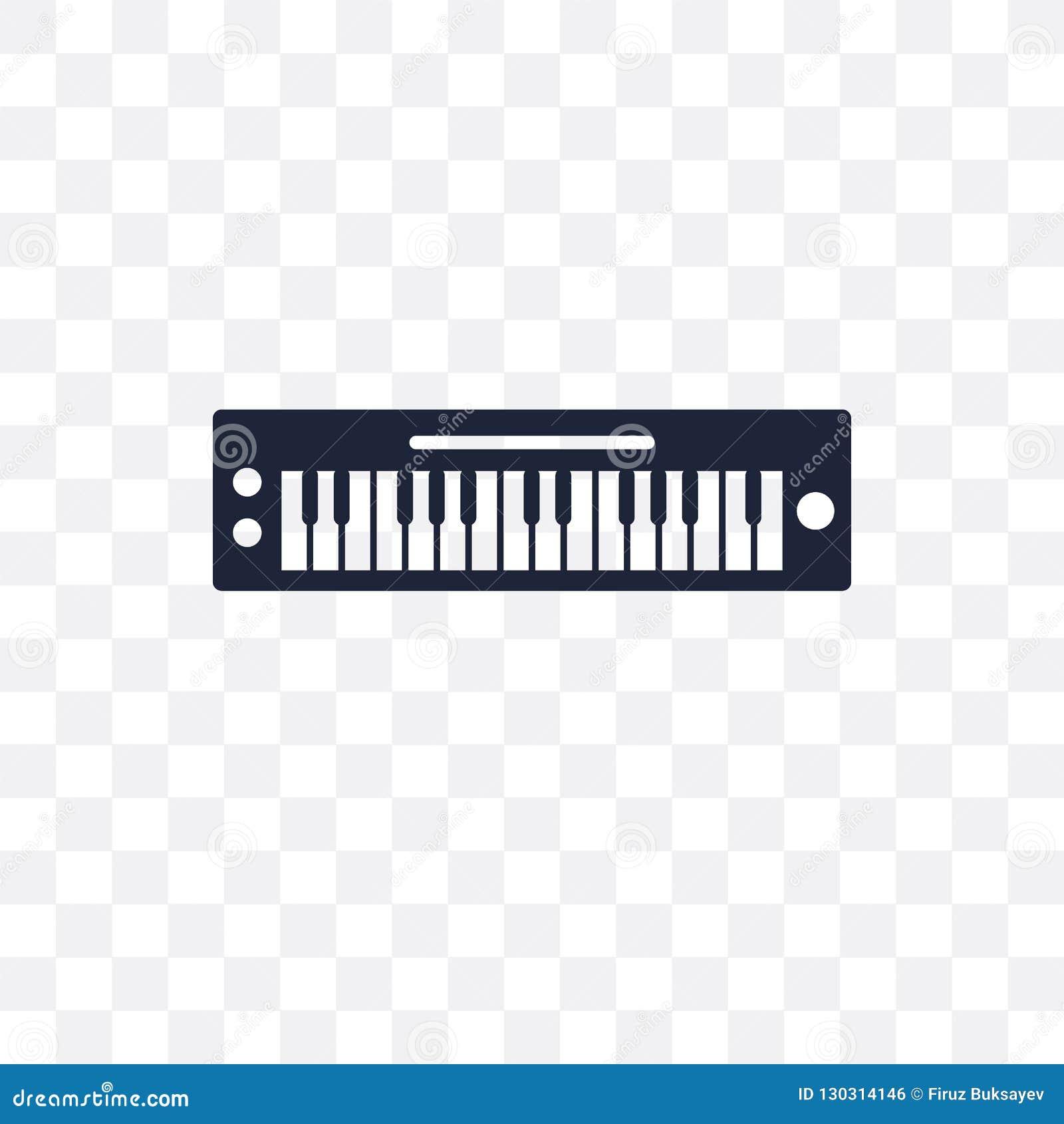 ícone Transparente Do Teclado Da Música Projeto Franco Do Símbolo Do
