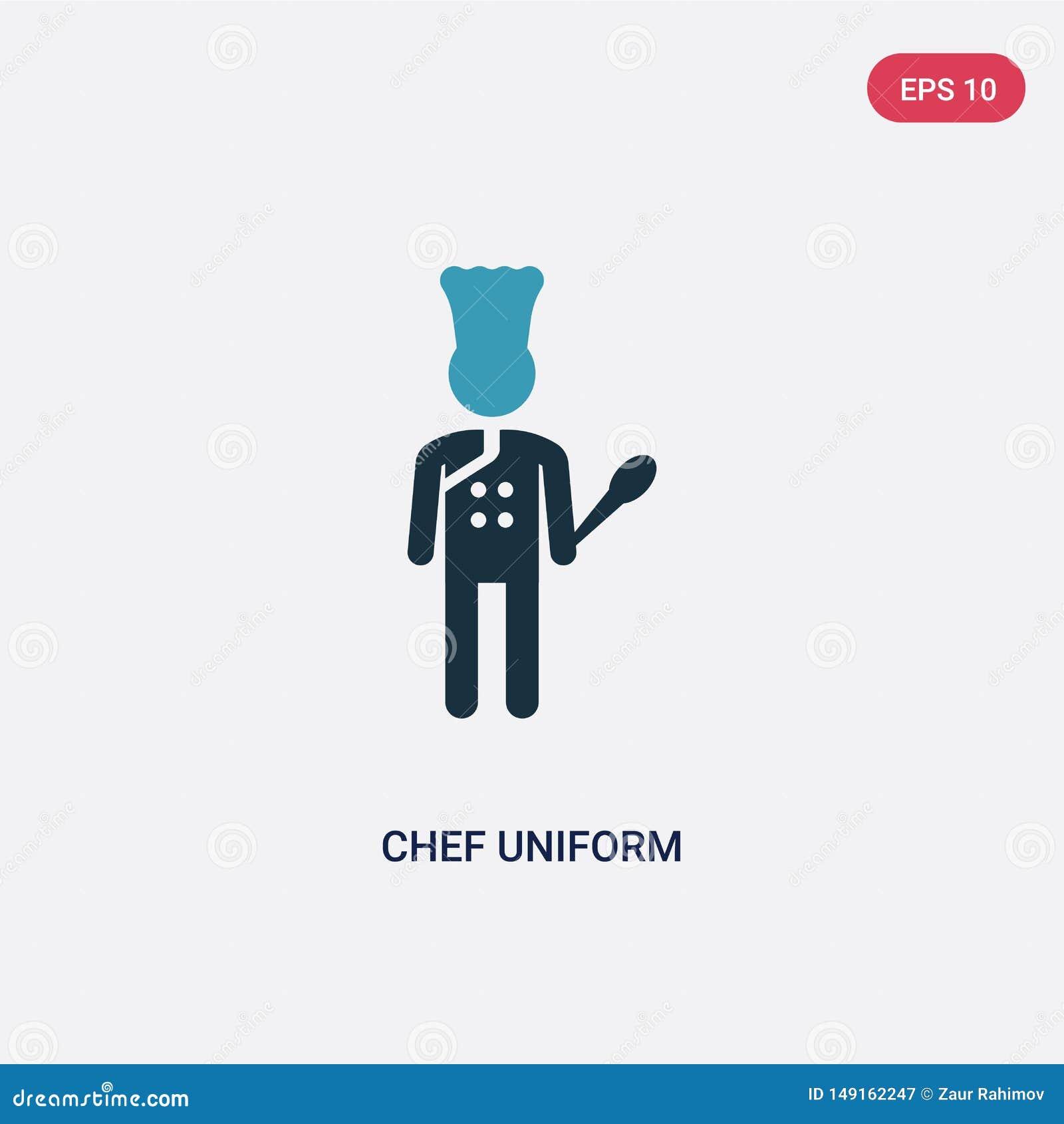 Ícone uniforme do vetor do cozinheiro chefe de duas cores do conceito dos povos o símbolo uniforme isolado do sinal do vetor do c