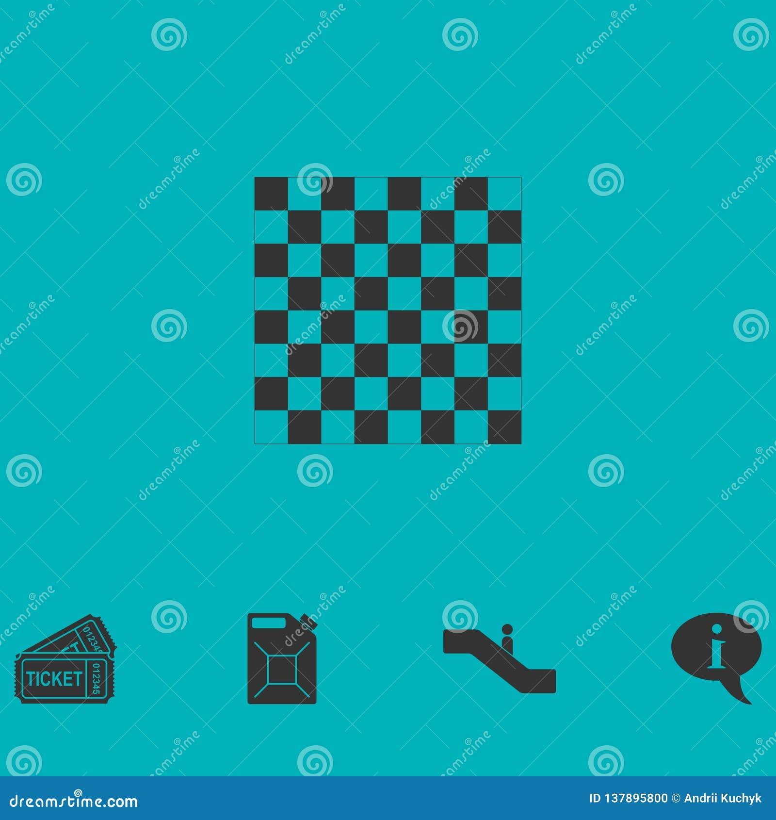 Ícone vazio da placa de xadrez horizontalmente