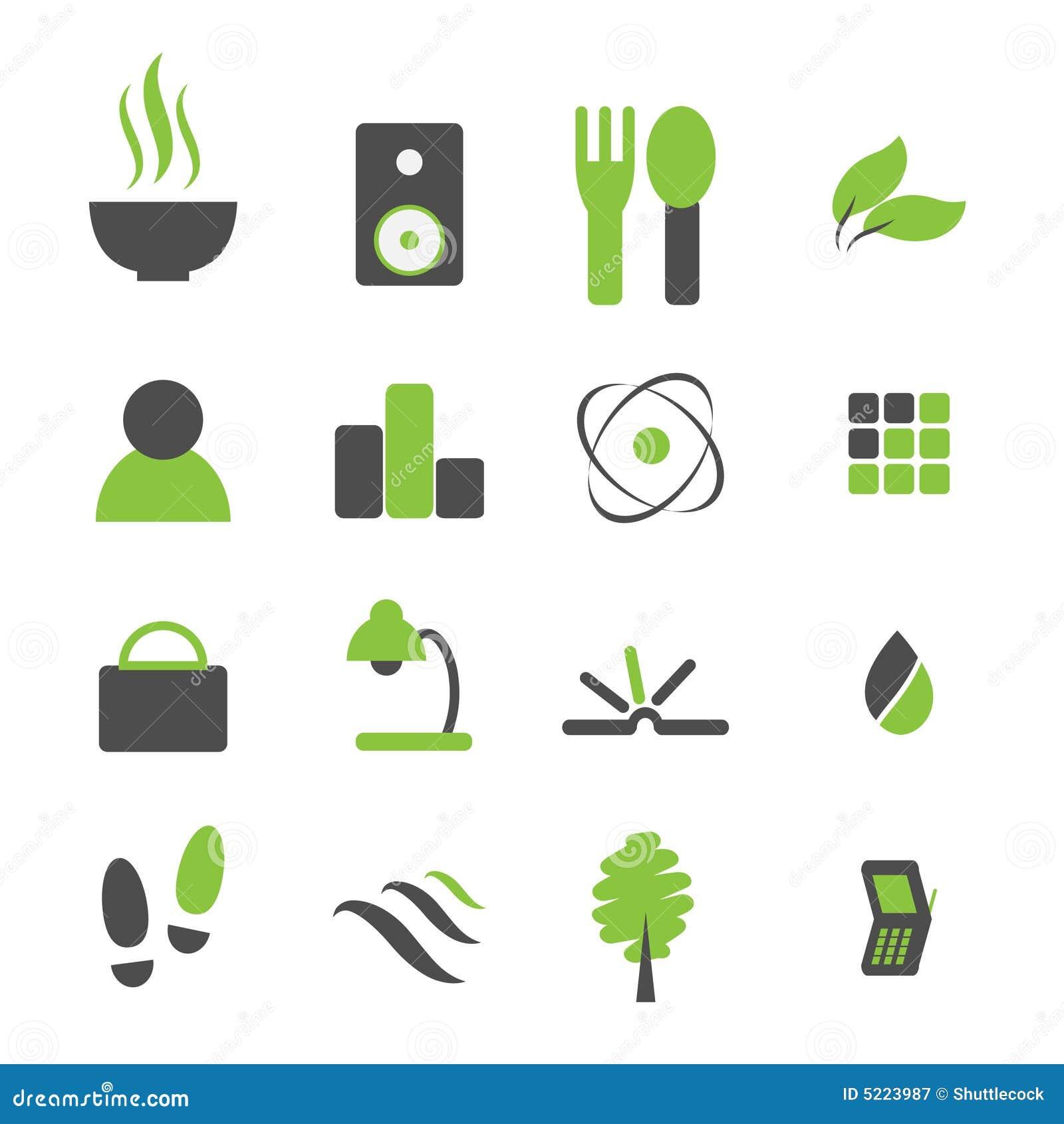 Ícone verde do símbolo ajustado para os comp(s)