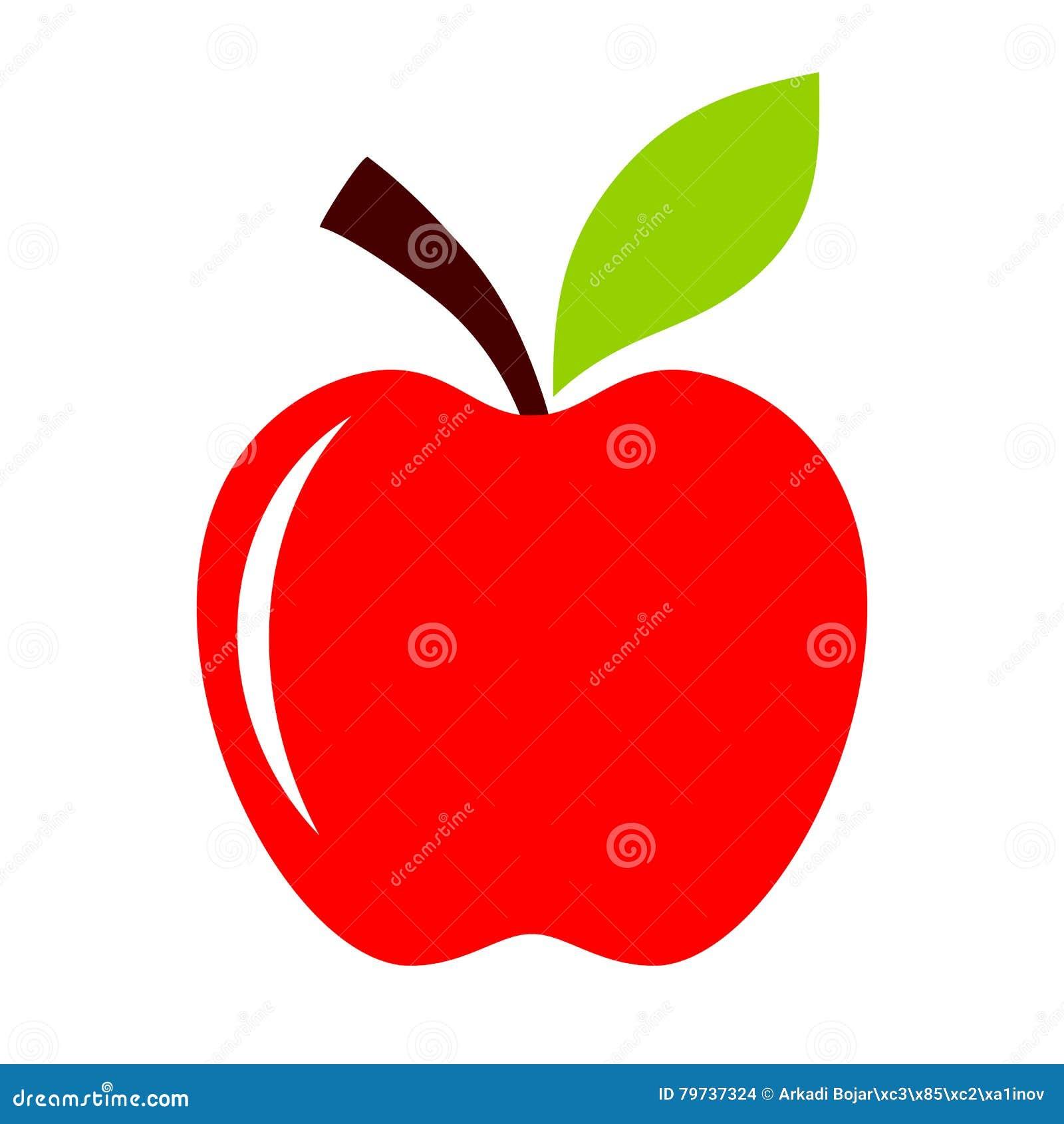 Ícone vermelho da maçã