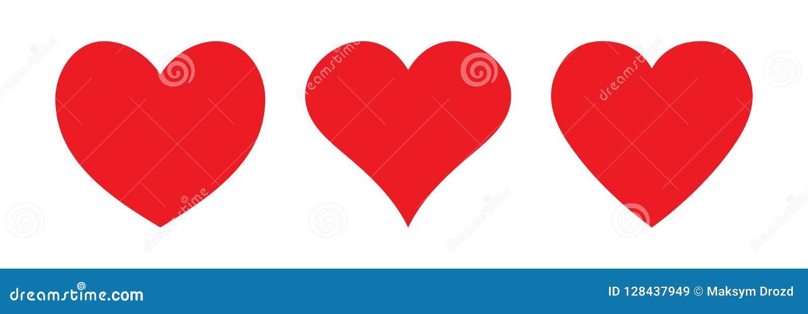 Ícone vermelho do coração, ícone do amor