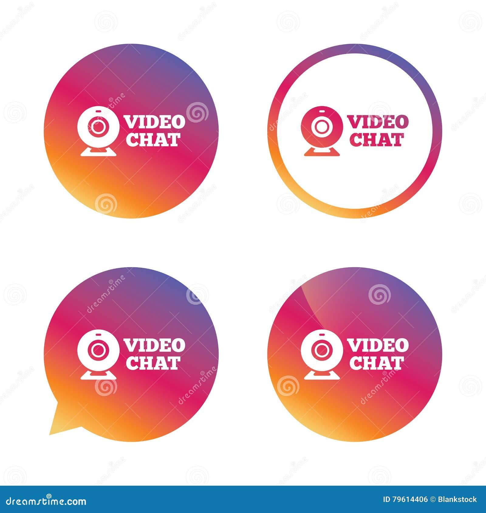 Ícone video do sinal do bate-papo Conversa video da câmara web