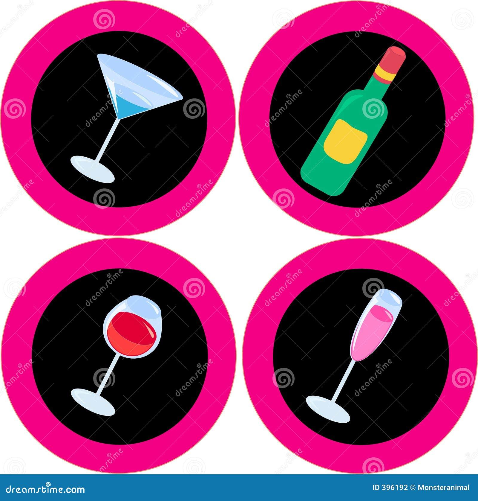 Ícones 2 do álcool