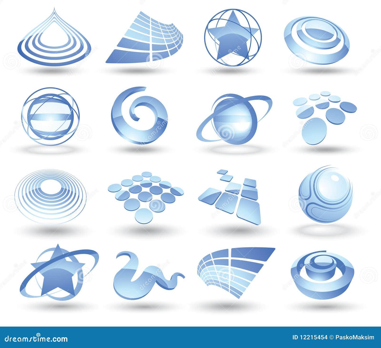 Ícones abstratos do espaço