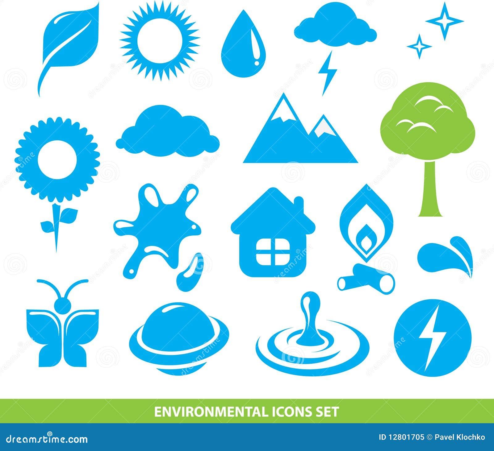 Ícones ambientais ajustados