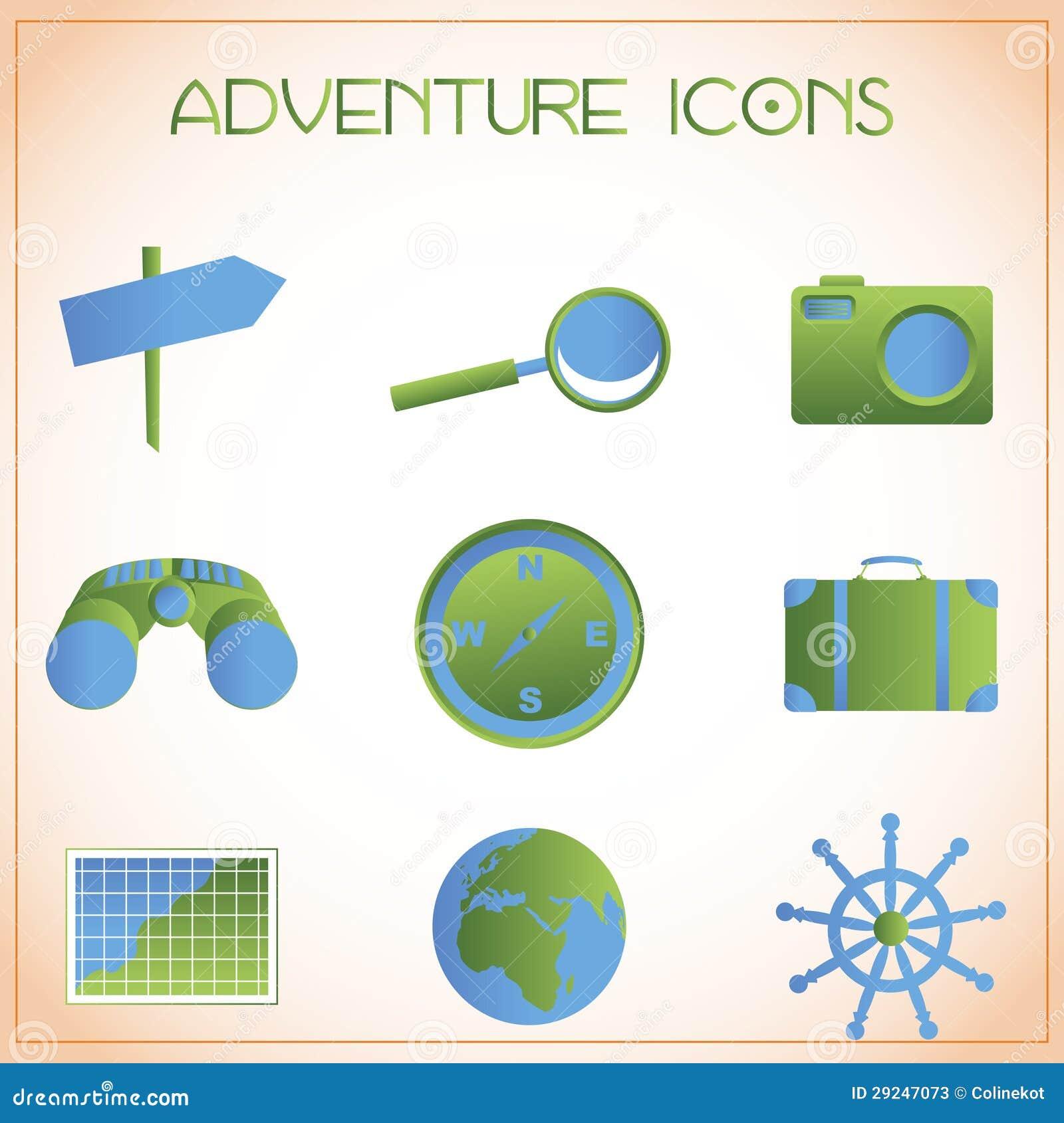 Download Ícones da aventura ilustração do vetor. Ilustração de foto - 29247073